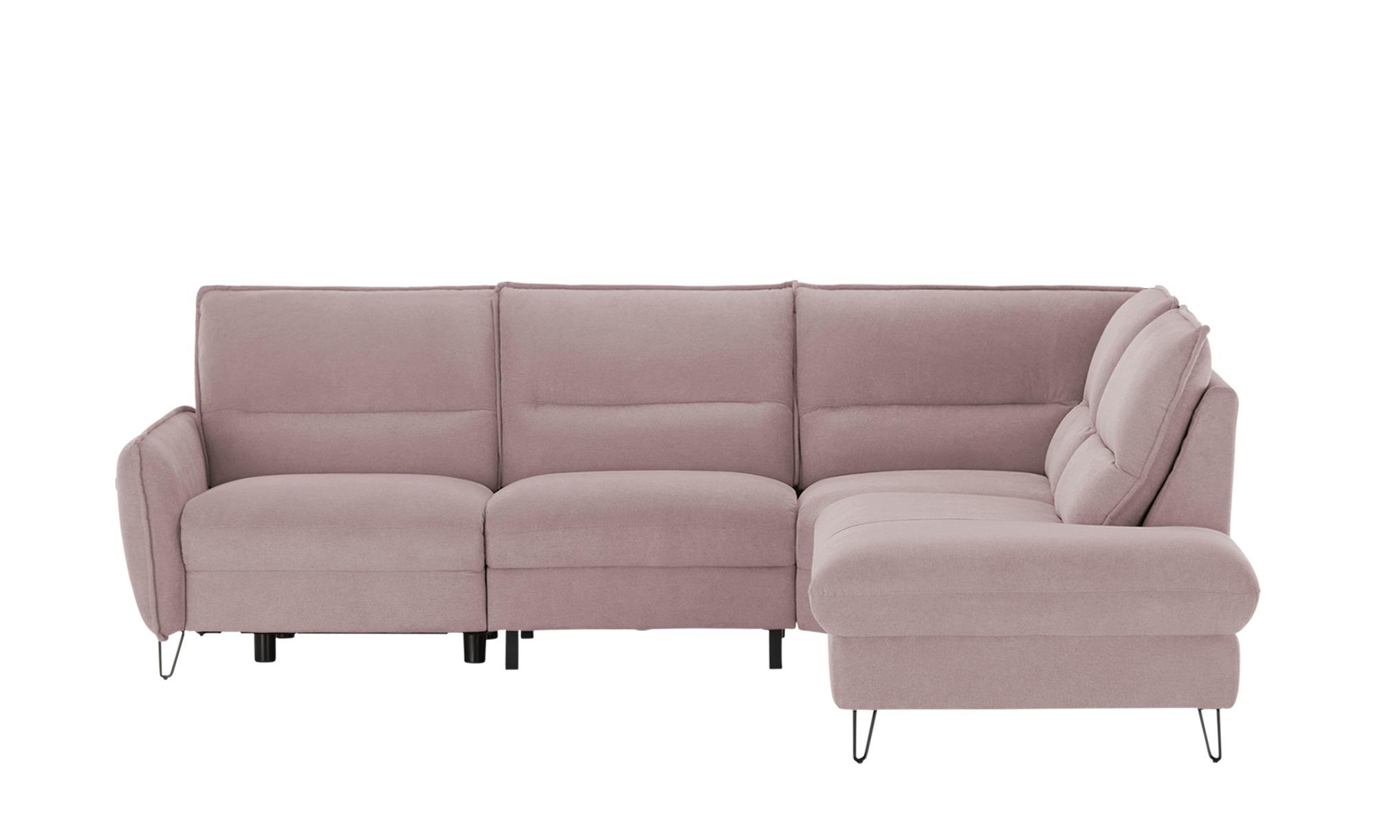 Ecksofa  Cordoba ¦ rosa/pink ¦ Maße (cm): B: 273 H: 90 T: 225 Polstermöbel > Sofas > Ecksofas - Höffner