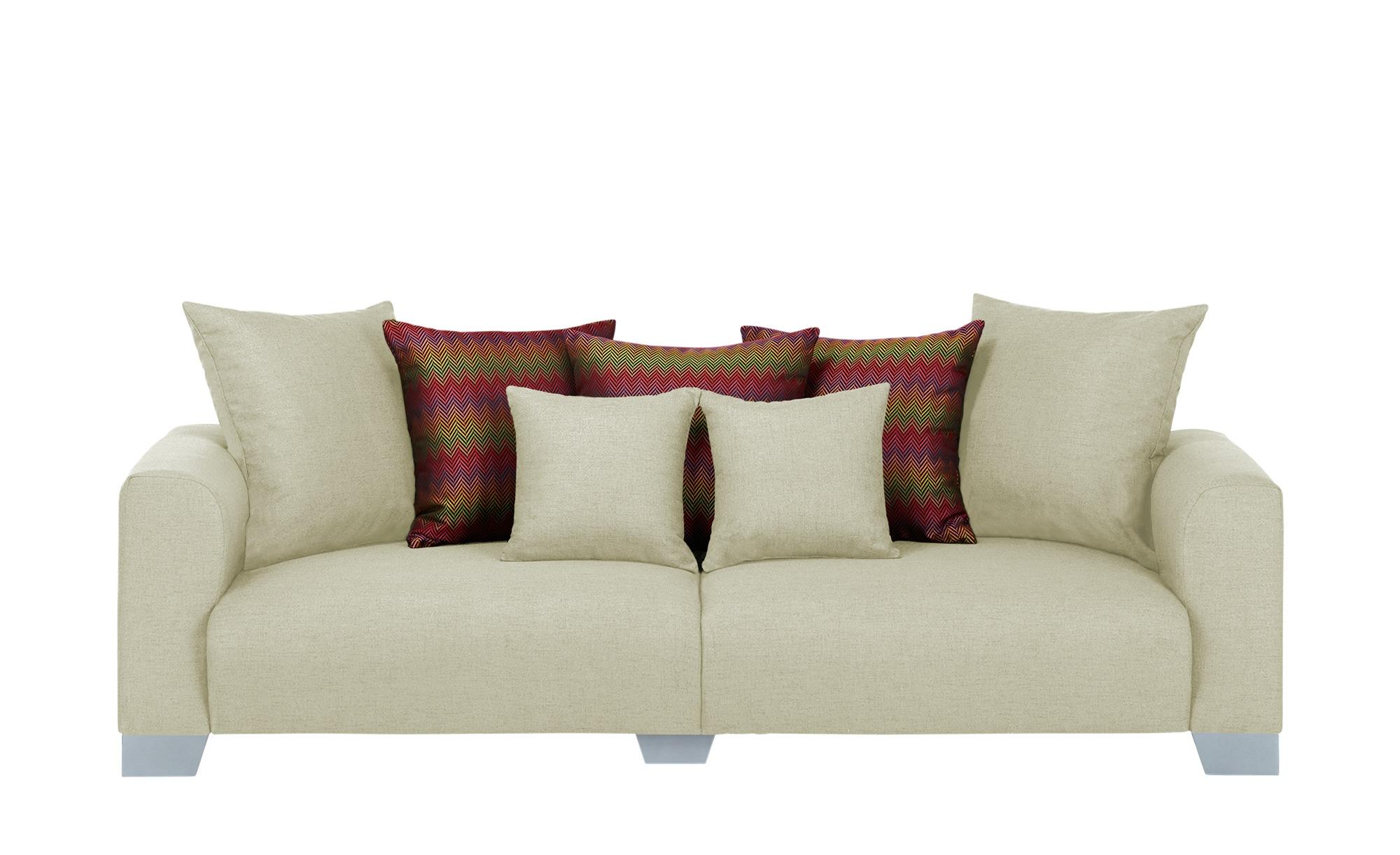 smart Big Sofa  Tonja ¦ beige ¦ Maße (cm): B: 244 H: 68 T: 107 Polstermöbel > Sofas > Big-Sofas - Höffner