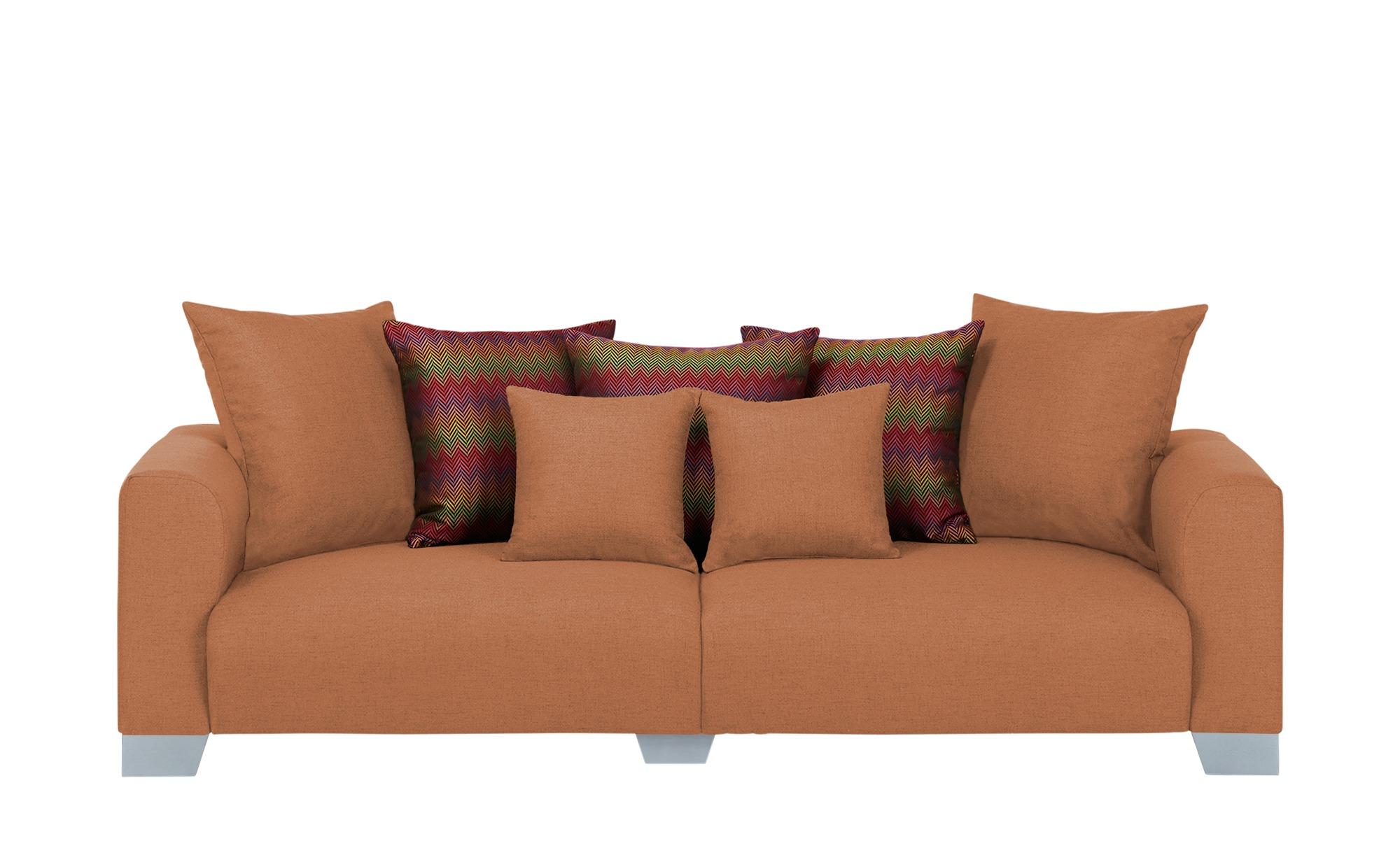 smart Big Sofa  Tonja ¦ orange ¦ Maße (cm): B: 244 H: 68 T: 107 Polstermöbel > Sofas > Big-Sofas - Höffner