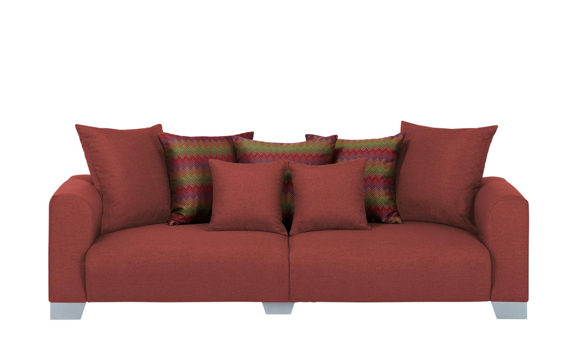 smart Big Sofa  Tonja ¦ rot ¦ Maße (cm): B: 244 H: 68 T: 107 Polstermöbel > Sofas > Big-Sofas - Höffner