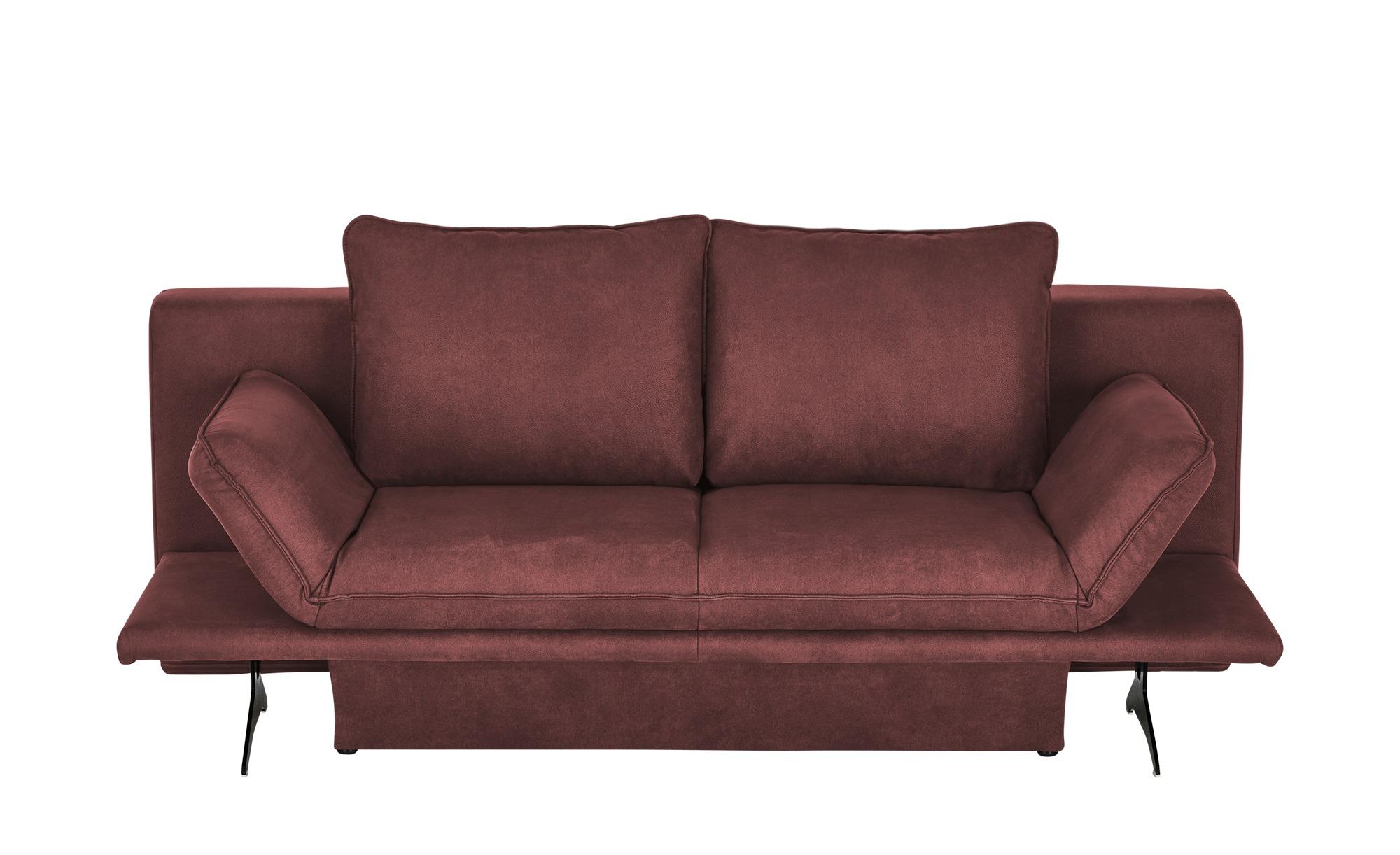 Schlafsofa  Mona ¦ rot ¦ Maße (cm): B: 211 H: 90 T: 101 Polstermöbel > Sofas > Einzelsofas - Höffner