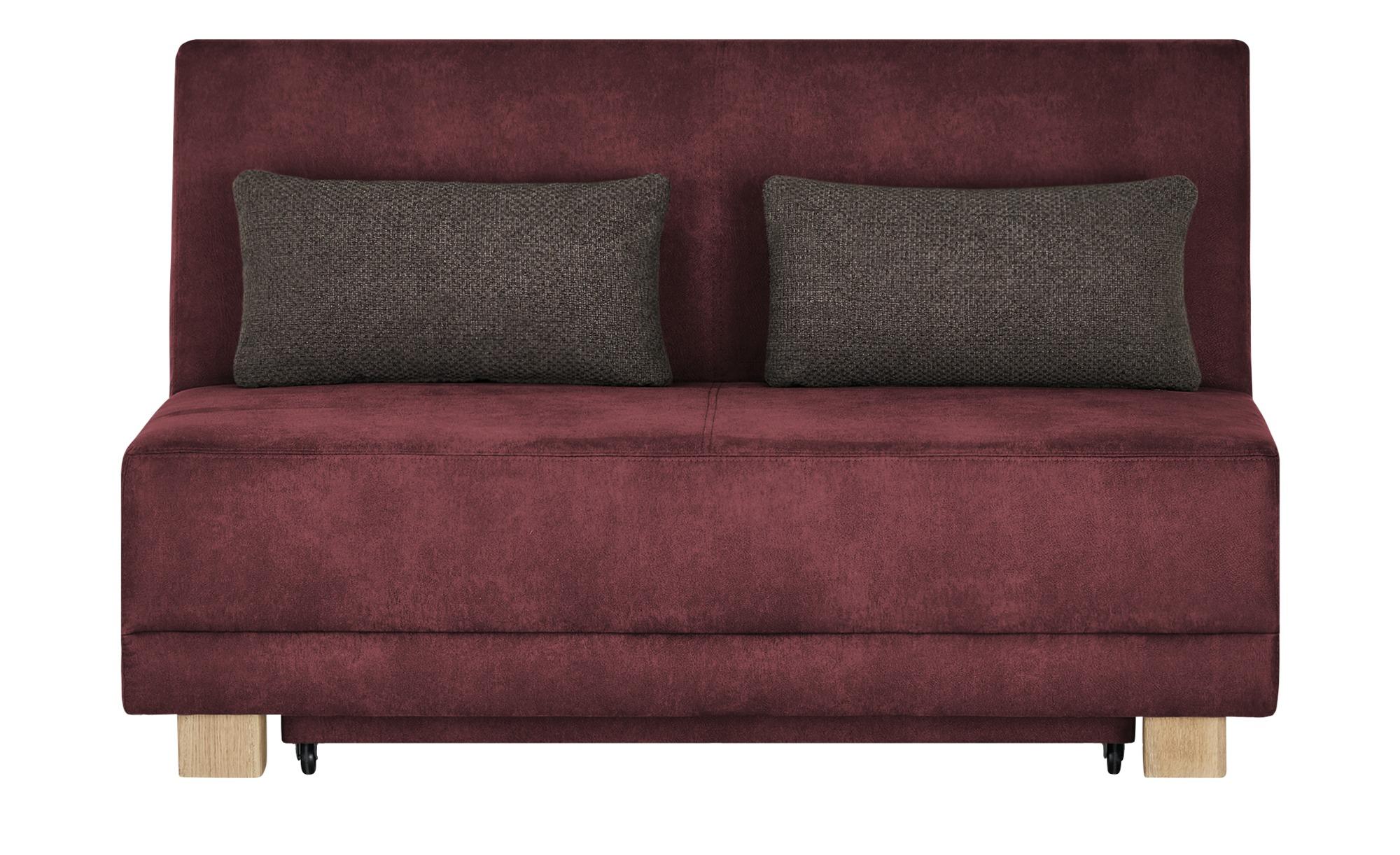 Schlafsofa  Vally ¦ rot ¦ Maße (cm): B: 145 H: 90 T: 105 Polstermöbel > Sofas > Einzelsofas - Höffner