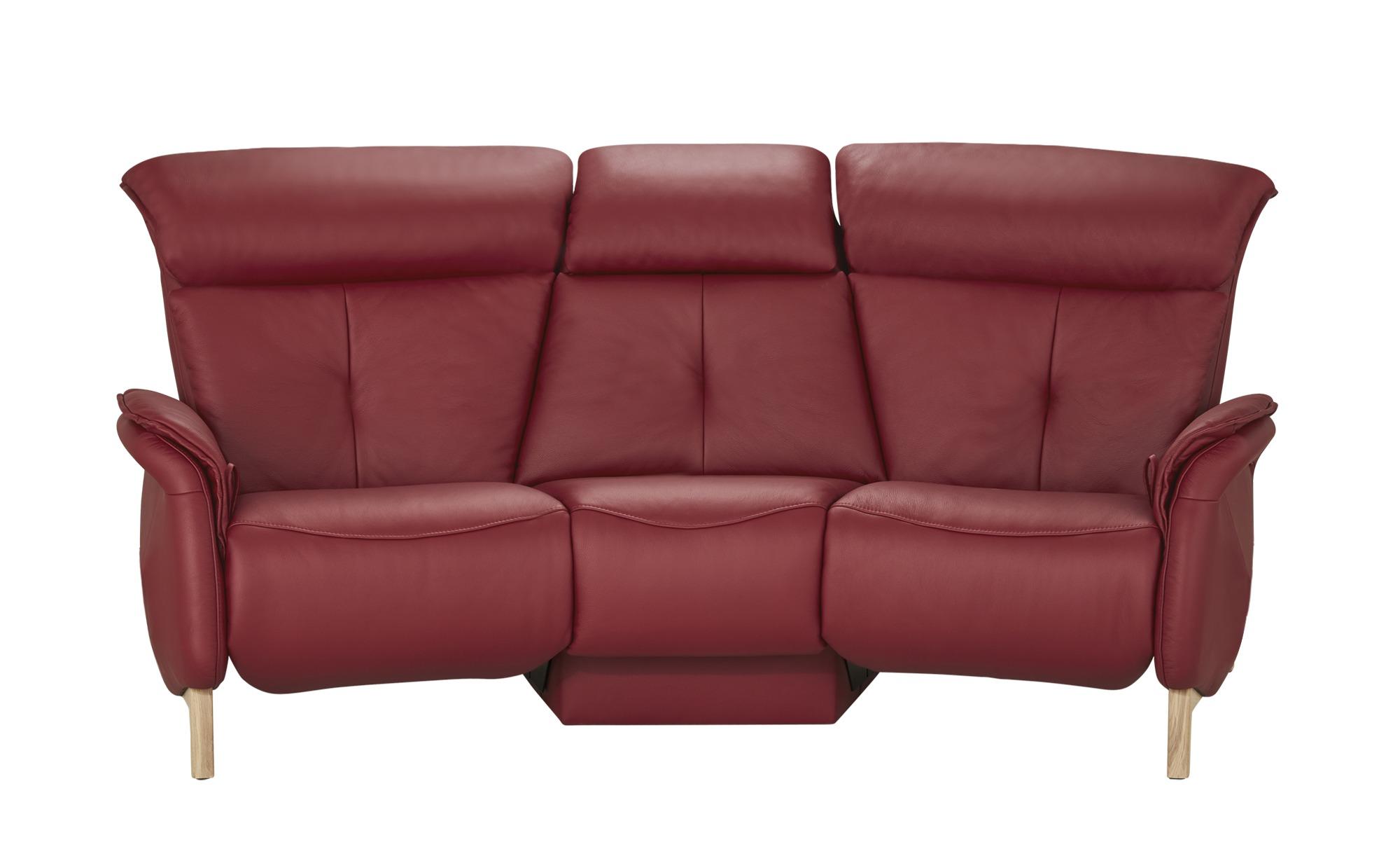 himolla Einzelsofa Leder  4708 ¦ rot ¦ Maße (cm): B: 216 H: 97 T: 119 Polstermöbel > Sofas > 2-Sitzer - Höffner