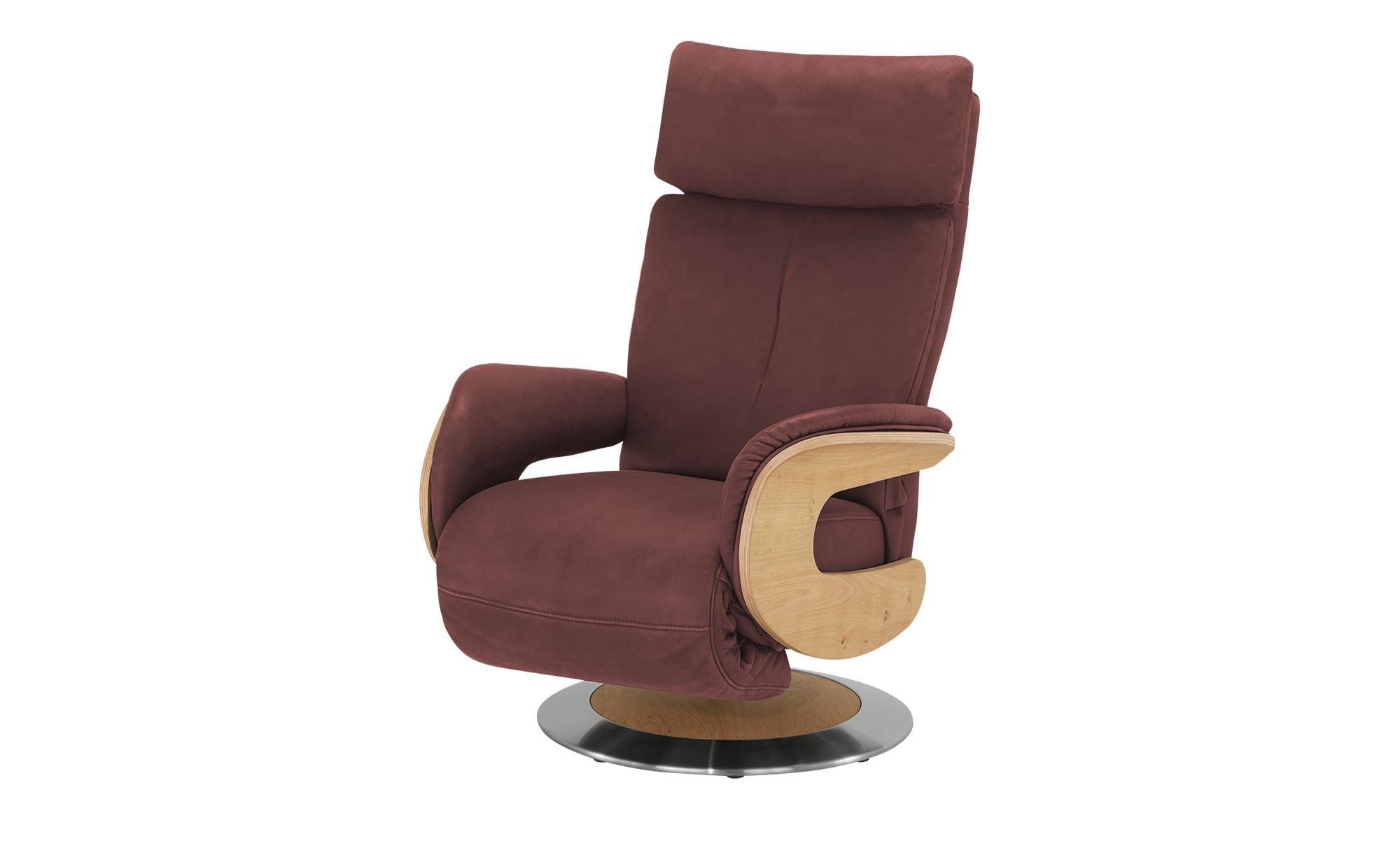 himolla Funktionssessel Leder  7818 ¦ rot ¦ Maße (cm): B: 75 H: 112 T: 87 Polstermöbel > Sessel > Fernsehsessel - Höffner