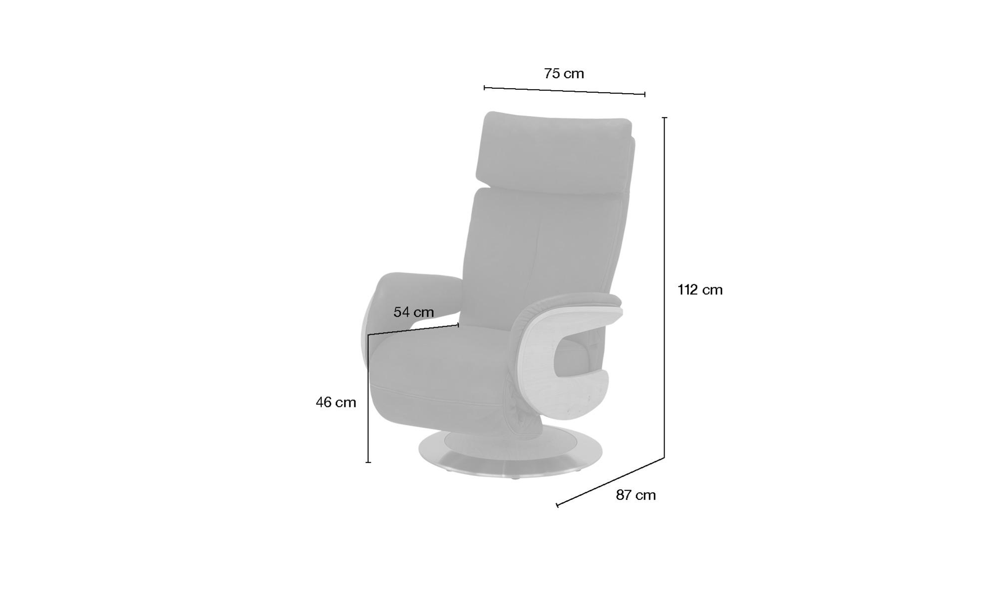 himolla Funktionssessel Leder  7818 ¦ orange ¦ Maße (cm): B: 75 H: 112 T: 87 Polstermöbel > Sessel > Fernsehsessel - Höffner