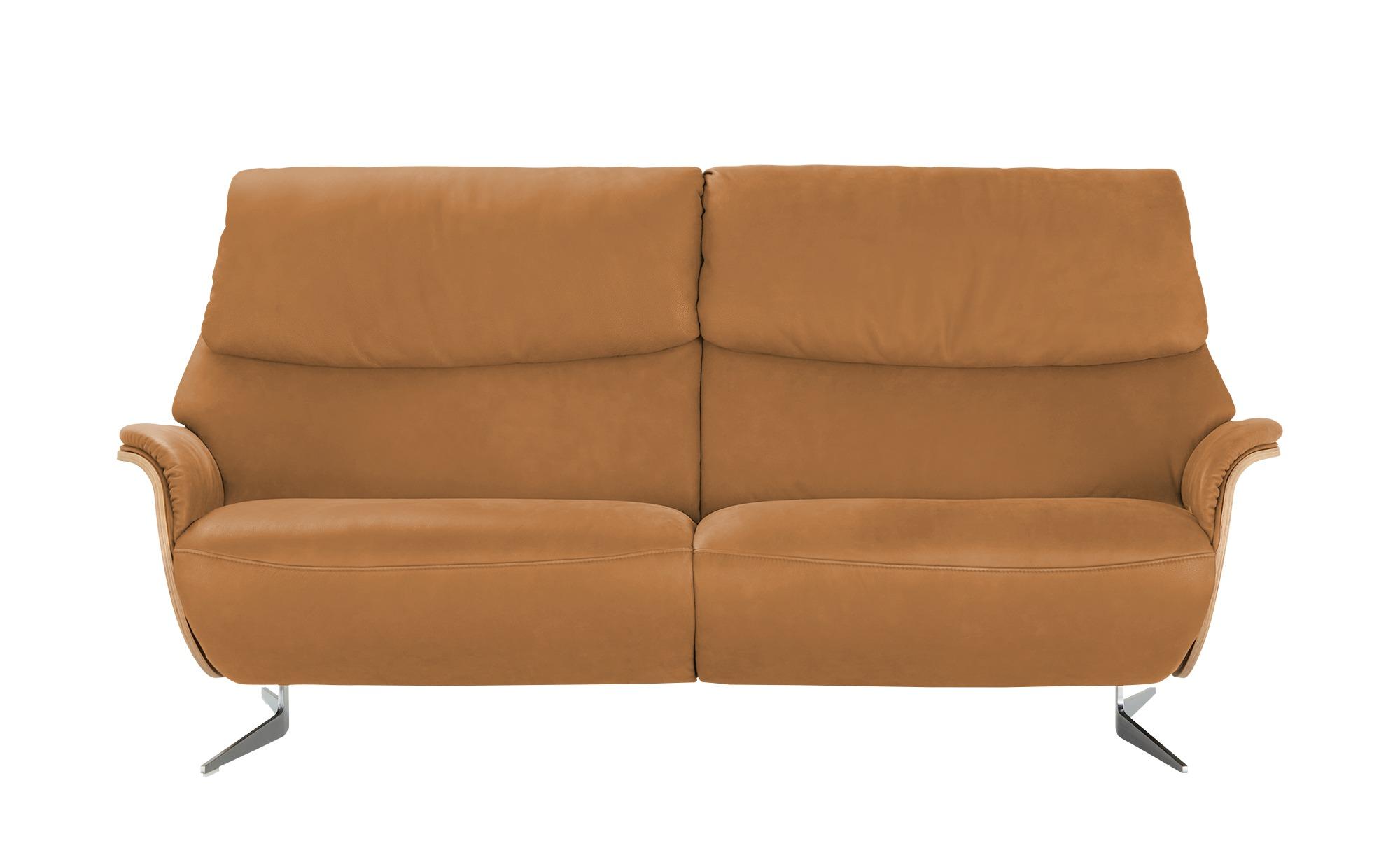 #himolla Einzelsofa Leder  4818 ¦ orange ¦ Maße (cm): B: 217 H: 106 T: 92 Polstermöbel > Sofas > 3-Sitzer – Höffner#