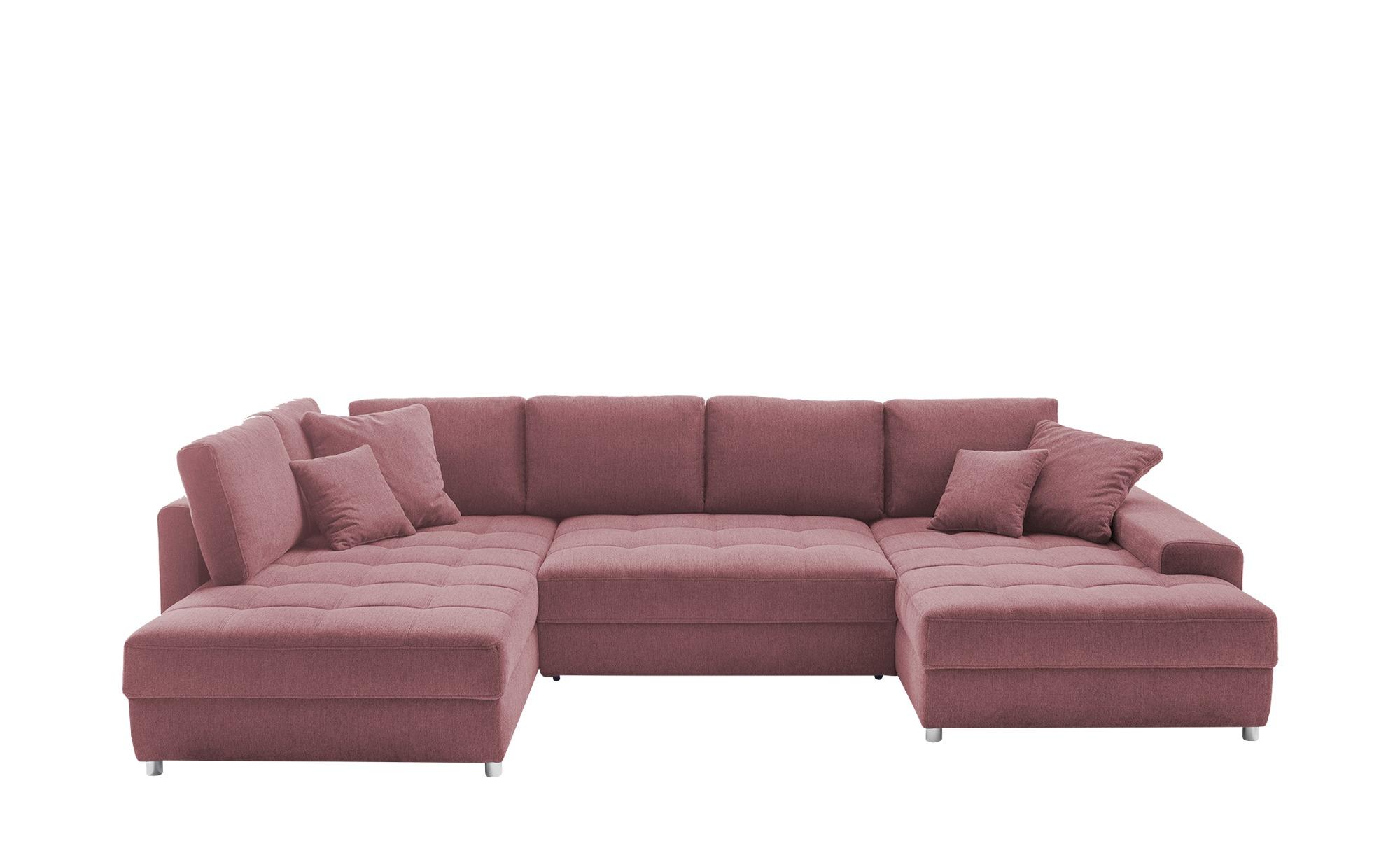 bobb Wohnlandschaft  Arissa de Luxe ¦ rosa/pink ¦ Maße (cm): B: 353 T: 181 Polstermöbel > Sofas > Schlafsofas - Höffner