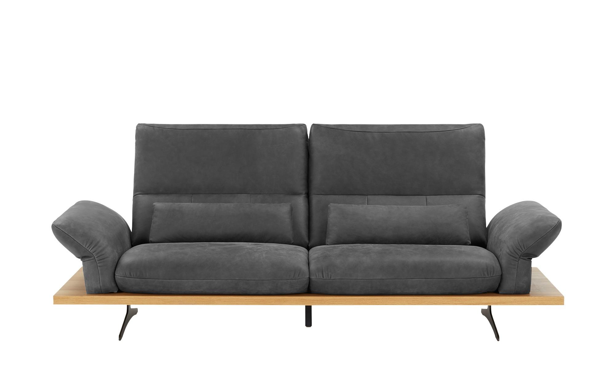 W.SCHILLIG Leder Sofa  Imperia ¦ grau ¦ Maße (cm): B: 240 H: 71 T: 99 Polstermöbel > Sofas > Einzelsofas - Höffner