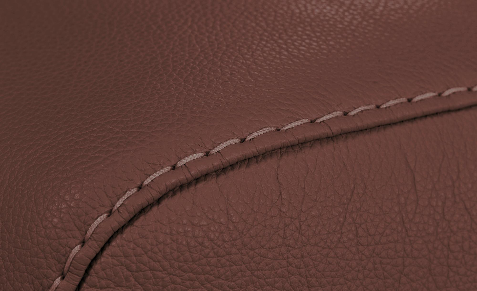 W.SCHILLIG Ecksofa Leder  Valentinoo ¦ rot ¦ Maße (cm): H: 83 Polstermöbel > Sofas > Ecksofas - Höffner