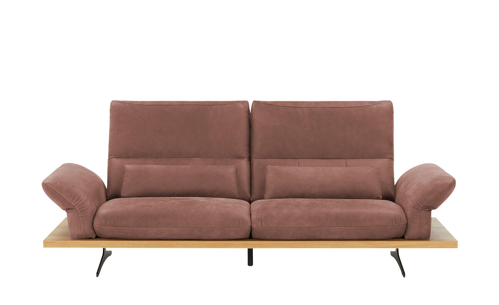W.SCHILLIG Leder Sofa  Imperia ¦ rot ¦ Maße (cm): B: 240 H: 71 T: 99 Polstermöbel > Sofas > Einzelsofas - Höffner