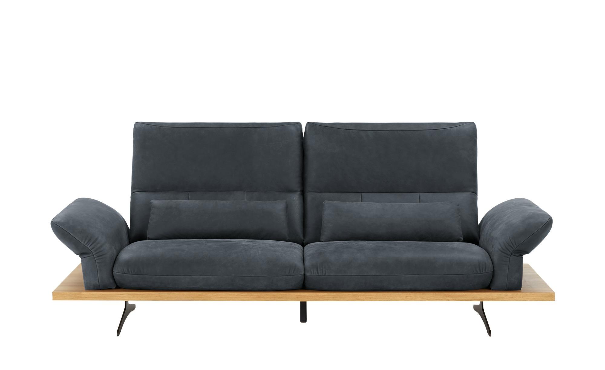 W.SCHILLIG Leder Sofa  Imperia ¦ blau ¦ Maße (cm): B: 220 H: 71 T: 99 Polstermöbel > Sofas > Einzelsofas - Höffner