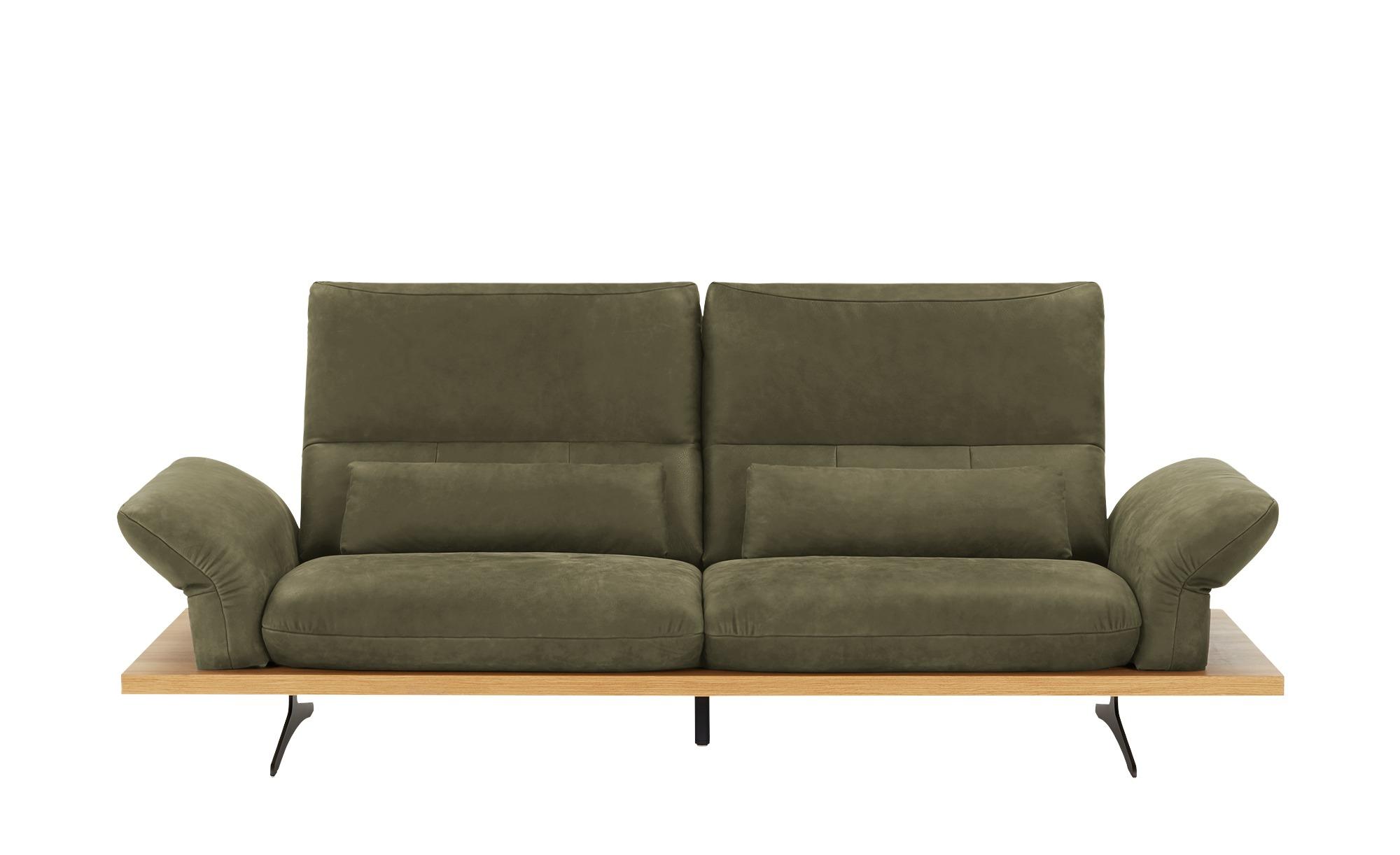 W.SCHILLIG Leder Sofa  Imperia ¦ grün ¦ Maße (cm): B: 220 H: 71 T: 99 Polstermöbel > Sofas > Einzelsofas - Höffner