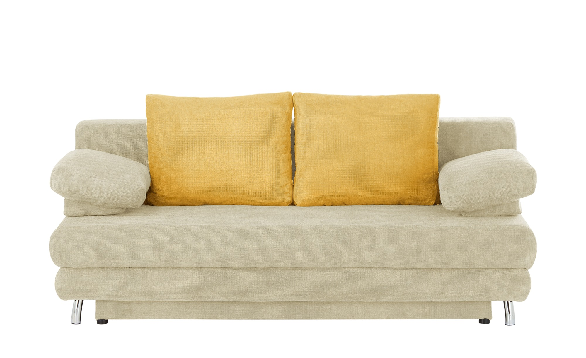 Schlafsofa  Calina ¦ beige ¦ Maße (cm): B: 205 H: 80 T: 100 Polstermöbel > Sofas > 2-Sitzer - Höffner