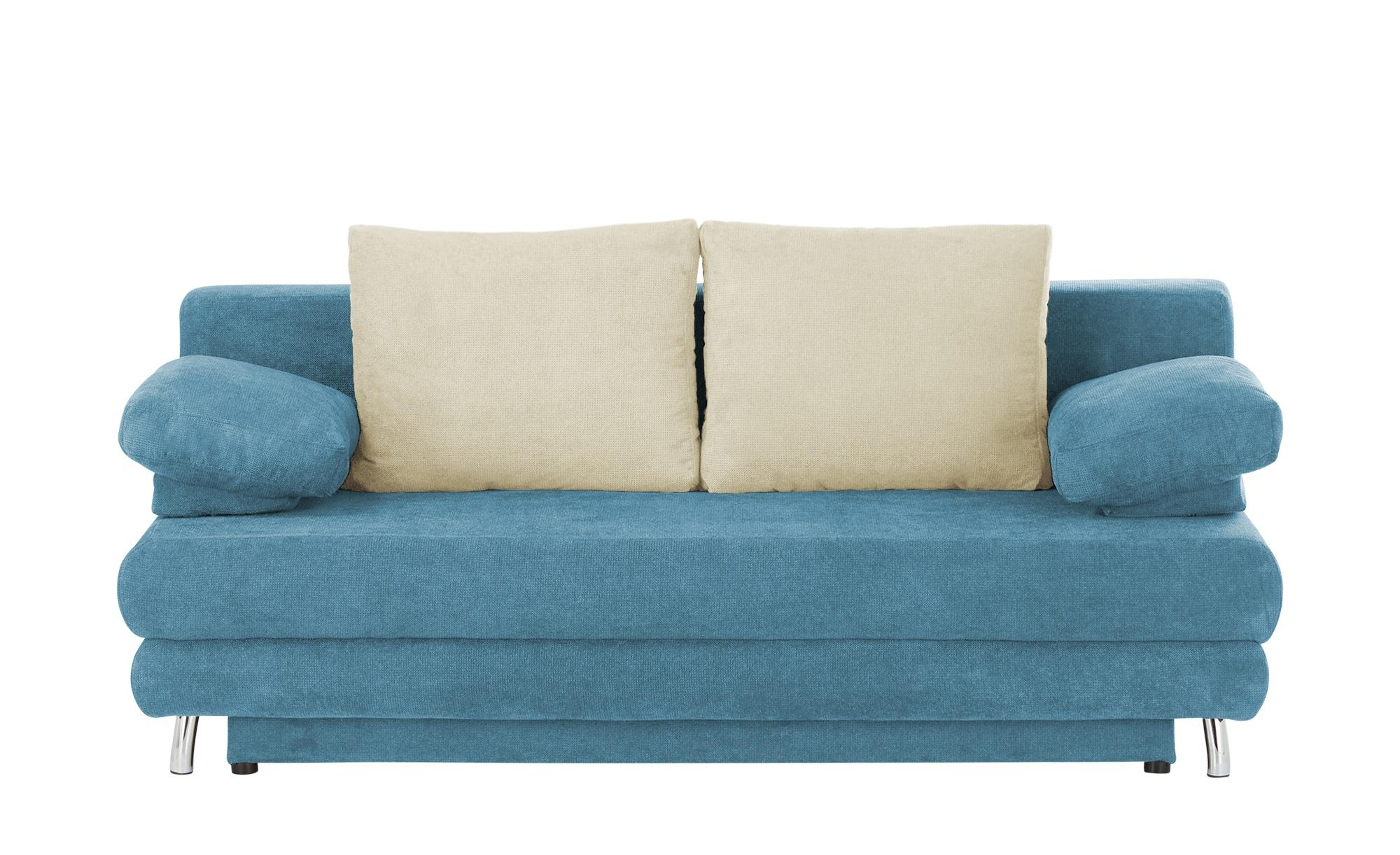 Schlafsofa  Calina ¦ blau ¦ Maße (cm): B: 205 H: 80 T: 100 Polstermöbel > Sofas > 2-Sitzer - Höffner
