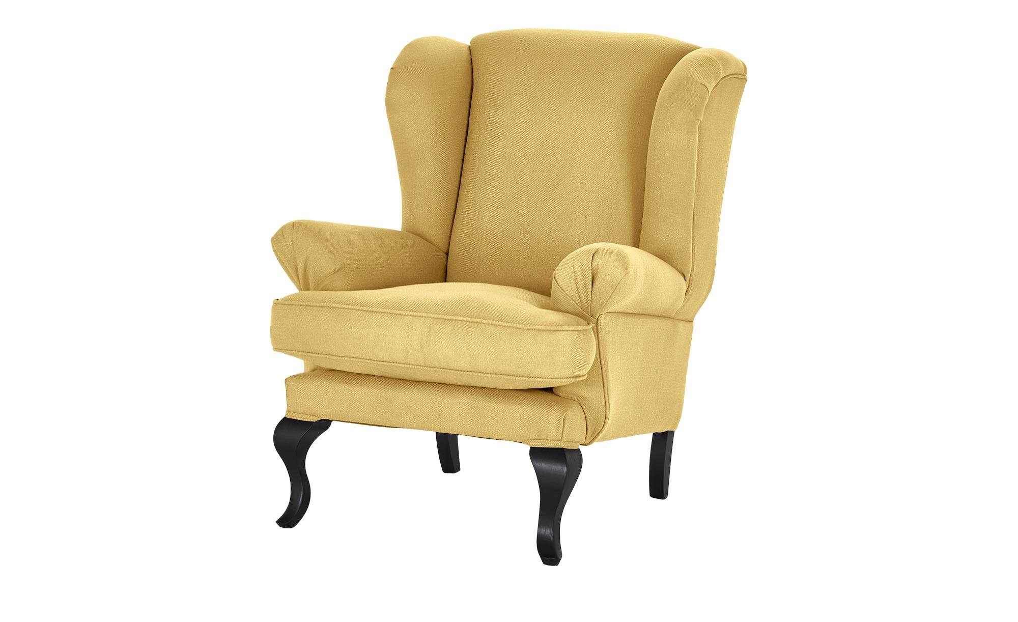 smart Ohrensessel  Charmaine ¦ gelb ¦ Maße (cm): B: 84 H: 98 T: 85 Polstermöbel > Sessel > Ohrensessel - Höffner