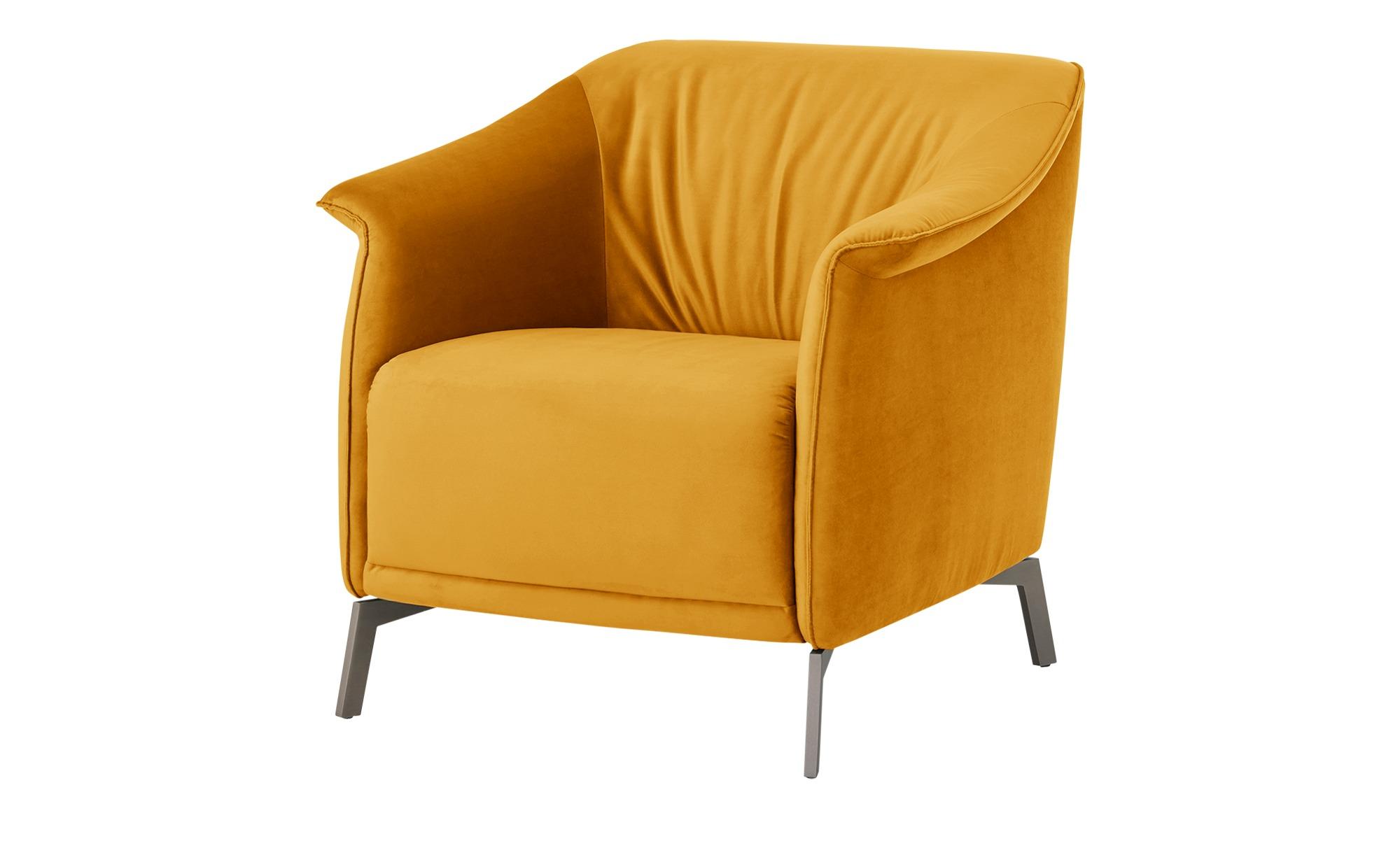 Sessel  Lamia ¦ gelb ¦ Maße (cm): B: 80 H: 77 T: 83 Polstermöbel > Sessel > Polstersessel - Höffner