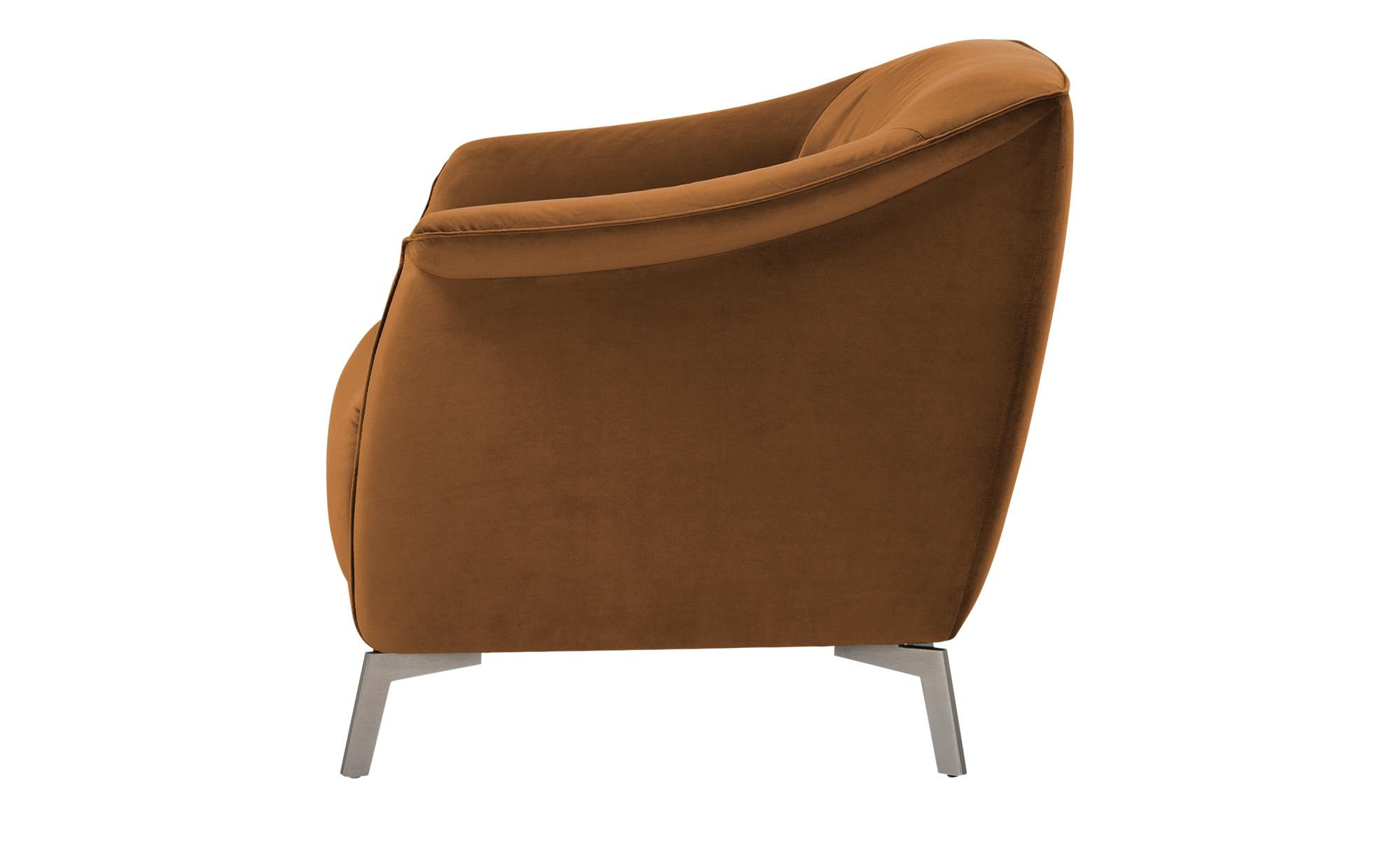 Sessel  Lamia ¦ braun ¦ Maße (cm): B: 80 H: 77 T: 83 Polstermöbel > Sessel > Polstersessel - Höffner