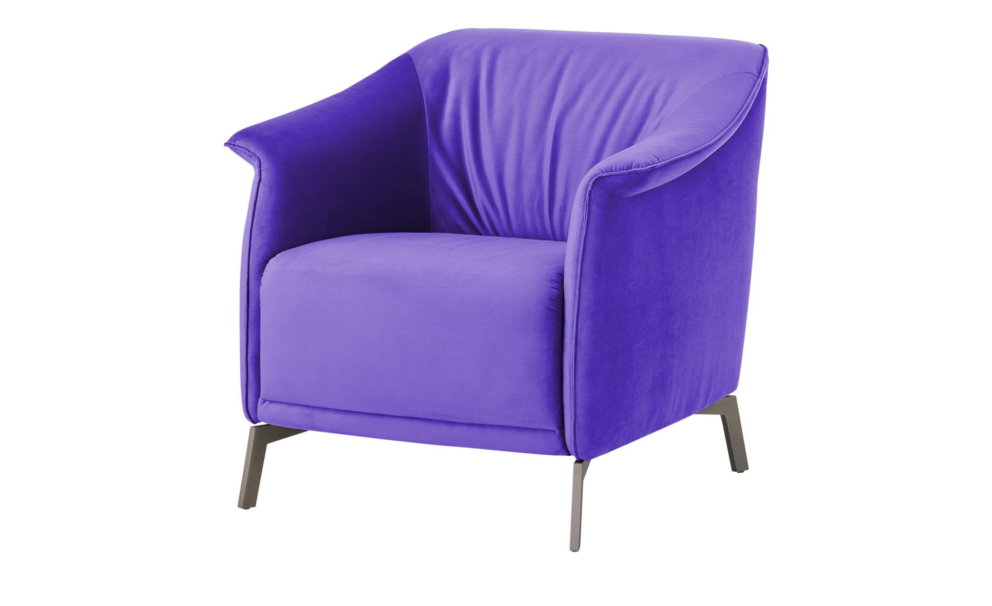 Sessel  Lamia ¦ lila/violett ¦ Maße (cm): B: 80 H: 77 T: 83 Polstermöbel > Sessel > Polstersessel - Höffner