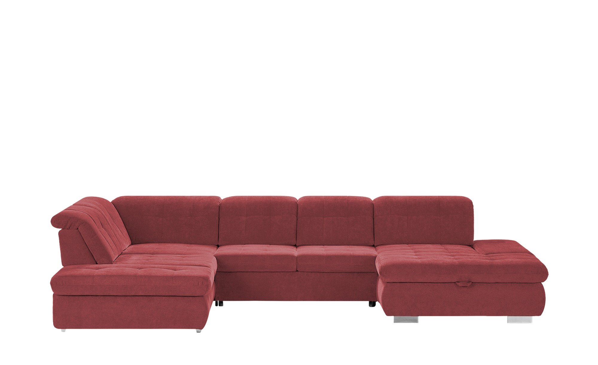 Wohnlandschaft  Spencer ¦ rot ¦ Maße (cm): H: 102 Polstermöbel > Sofas > Schlafsofas - Höffner