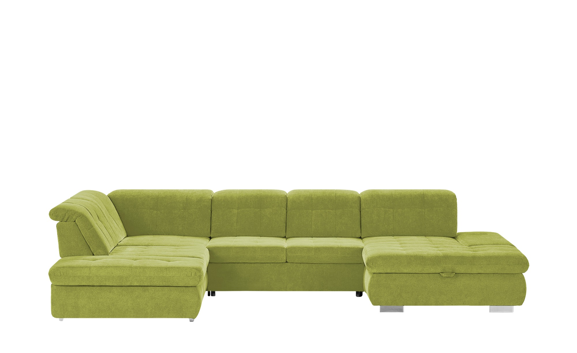 Wohnlandschaft  Spencer ¦ grün ¦ Maße (cm): H: 102 Polstermöbel > Sofas > Schlafsofas - Höffner