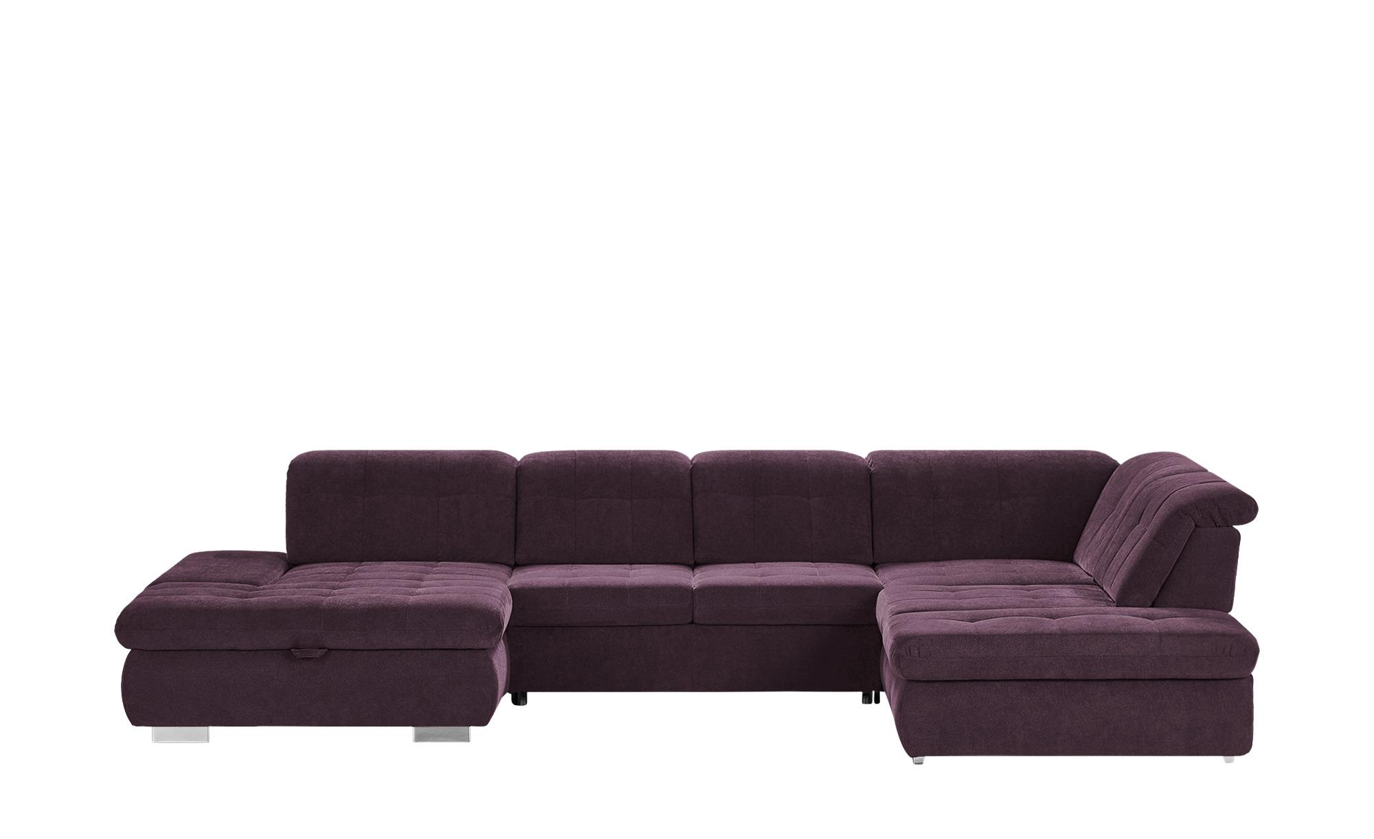 Wohnlandschaft  Spencer ¦ lila/violett ¦ Maße (cm): H: 102 Polstermöbel > Sofas > Schlafsofas - Höffner