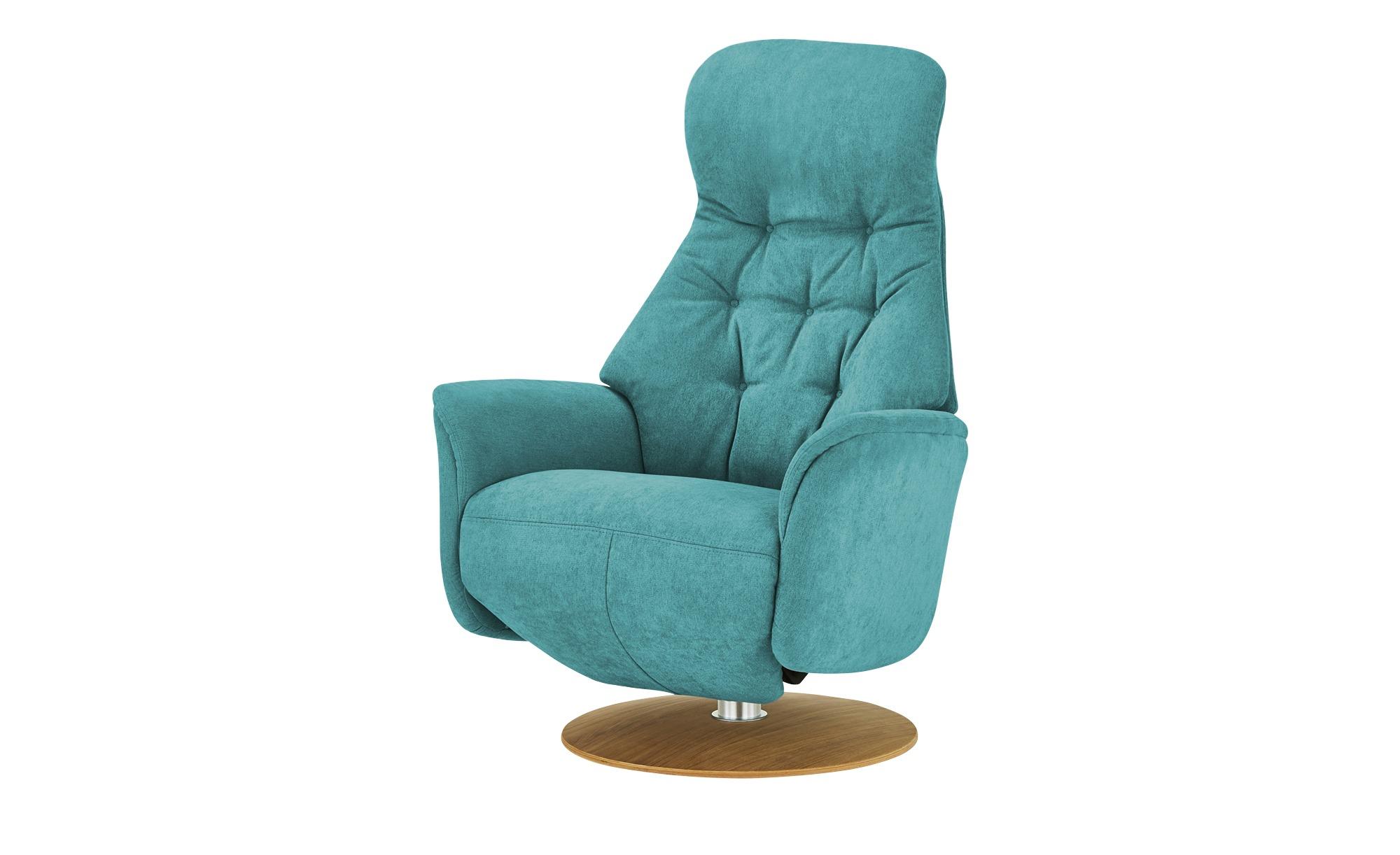 Nils Olsen Relaxsessel  Arend ¦ türkis/petrol ¦ Maße (cm): B: 74 H: 110 T: 80 Polstermöbel > Sessel > Fernsehsessel - Höffner