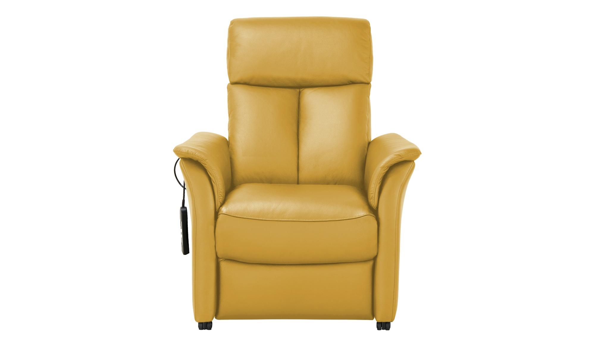 Nils Olsen Fernsehsessel M  Agda ¦ gelb ¦ Maße (cm): B: 85 H: 110 T: 85 Polstermöbel > Sessel > Ledersessel - Höffner