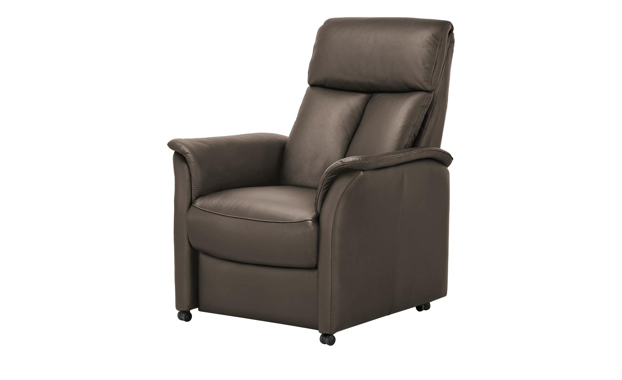 Nils Olsen Fernsehsessel M  Agda ¦ braun ¦ Maße (cm): B: 85 H: 110 T: 85 Polstermöbel > Sessel > Ledersessel - Höffner