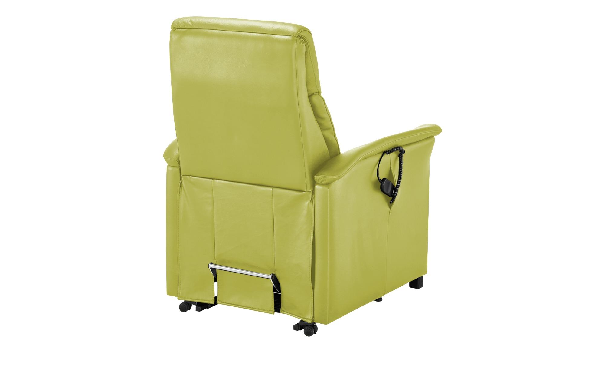 Nils Olsen Fernsehsessel L  Agda ¦ grün ¦ Maße (cm): B: 89 H: 114 T: 89 Polstermöbel > Sessel > Ledersessel - Höffner