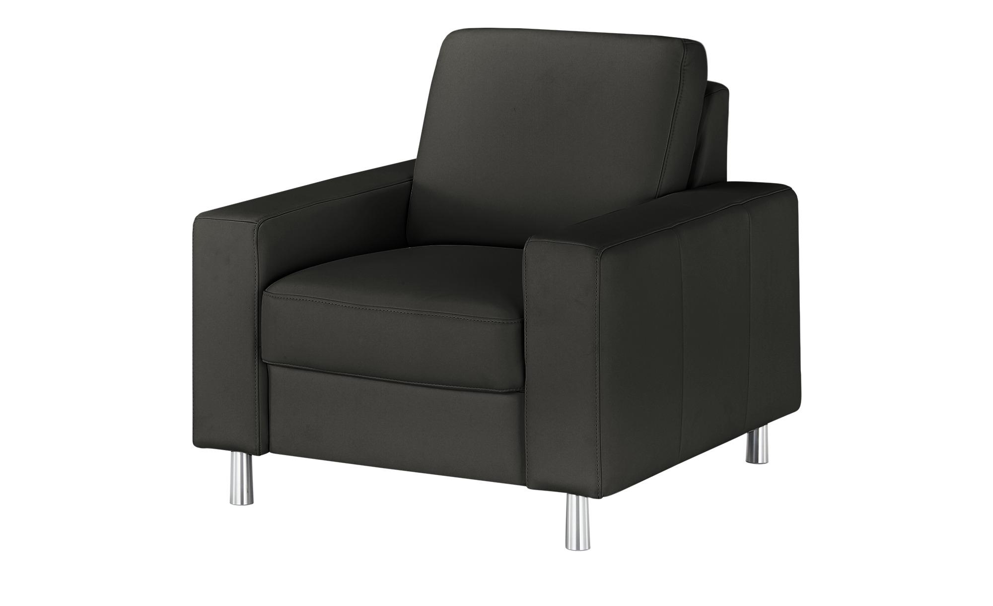 meinSofa Sessel  Byron ¦ schwarz ¦ Maße (cm): B: 88 H: 86 T: 95 Polstermöbel > Sessel > Ledersessel - Höffner