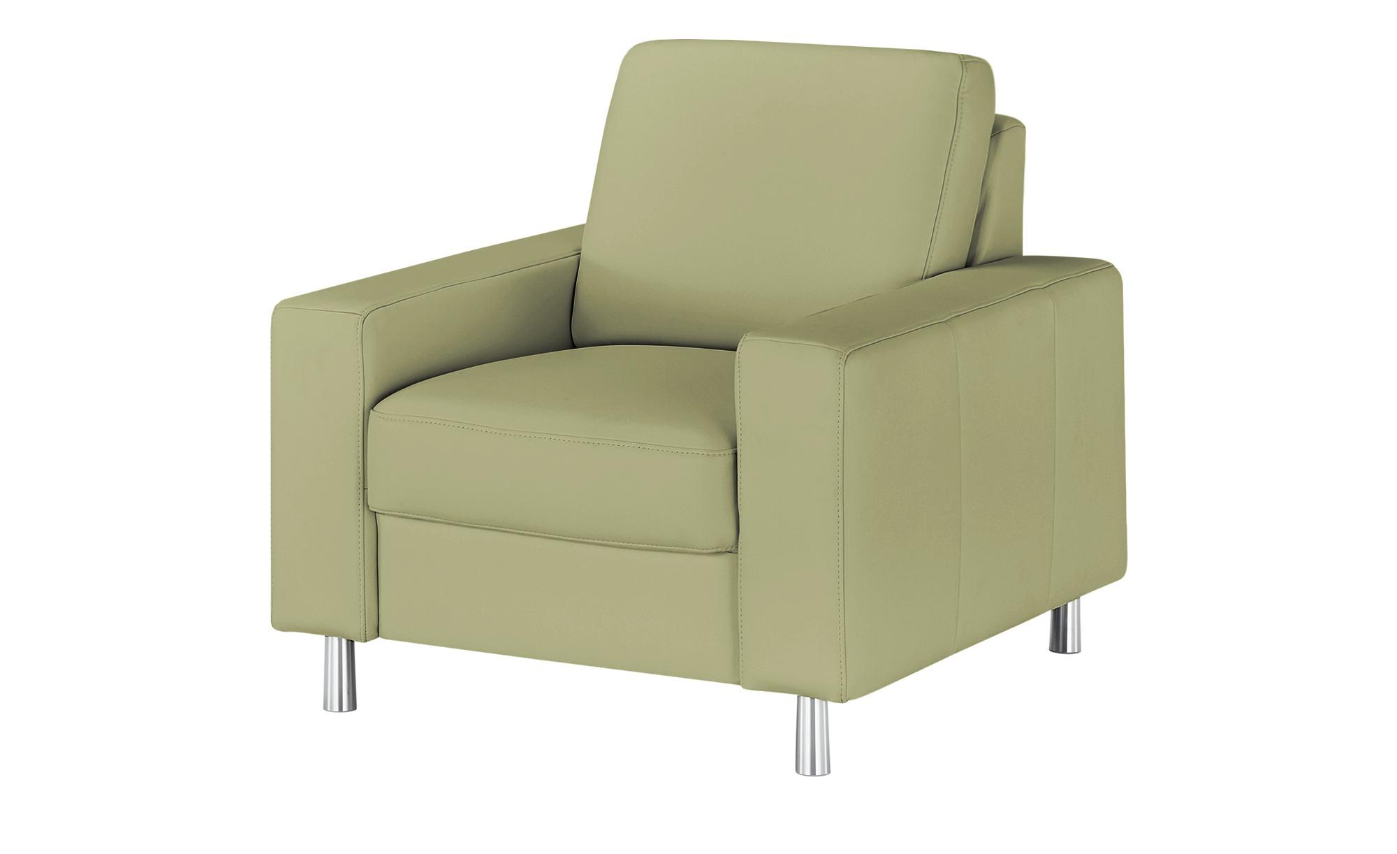 meinSofa Sessel  Byron ¦ grün ¦ Maße (cm): B: 88 H: 86 T: 95 Polstermöbel > Sessel > Ledersessel - Höffner