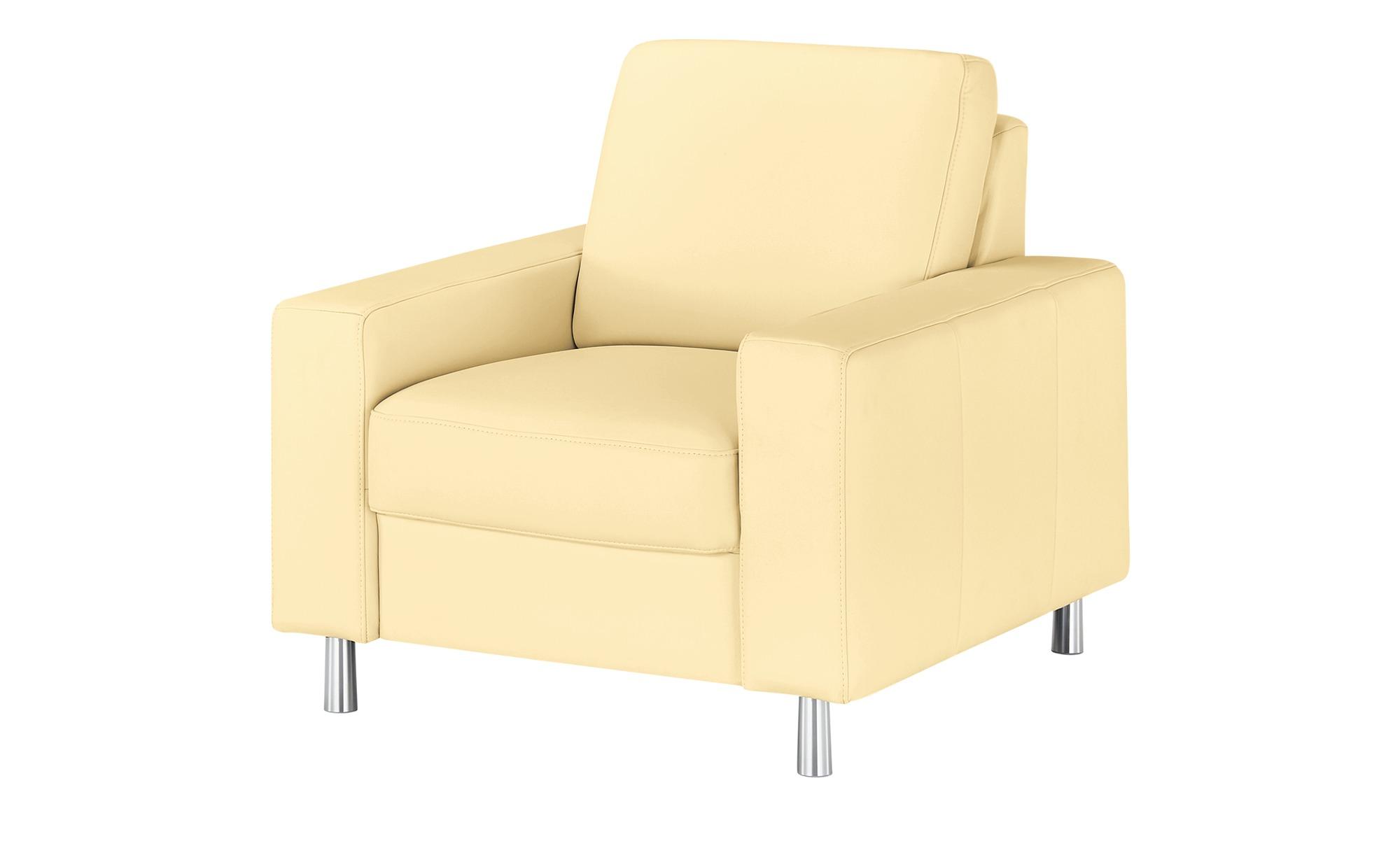 meinSofa Sessel  Byron ¦ beige ¦ Maße (cm): B: 88 H: 86 T: 95 Polstermöbel > Sessel > Ledersessel - Höffner