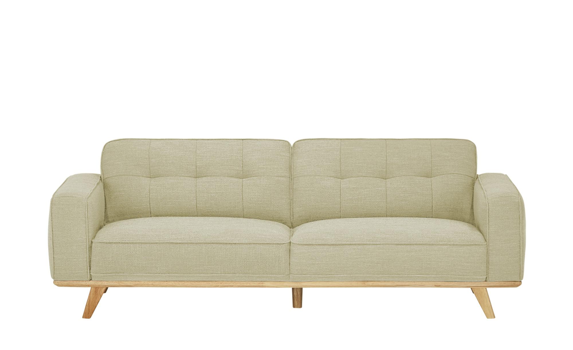 uno Sofa, 3-sitzig  Caralina ¦ beige ¦ Maße (cm): B: 227 H: 78 T: 95 Polstermöbel > Sofas > 3-Sitzer - Höffner