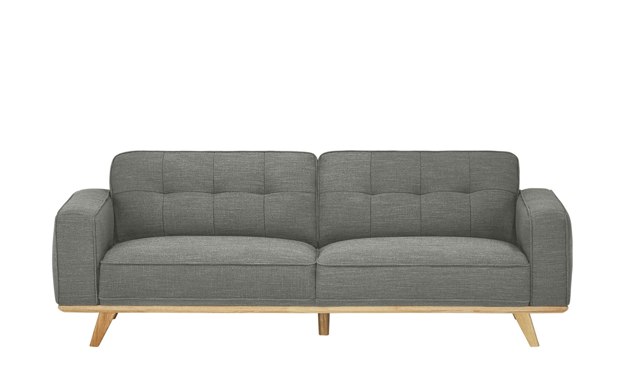 uno Sofa, 3-sitzig  Caralina ¦ grau ¦ Maße (cm): B: 227 H: 78 T: 95 Polstermöbel > Sofas > 3-Sitzer - Höffner