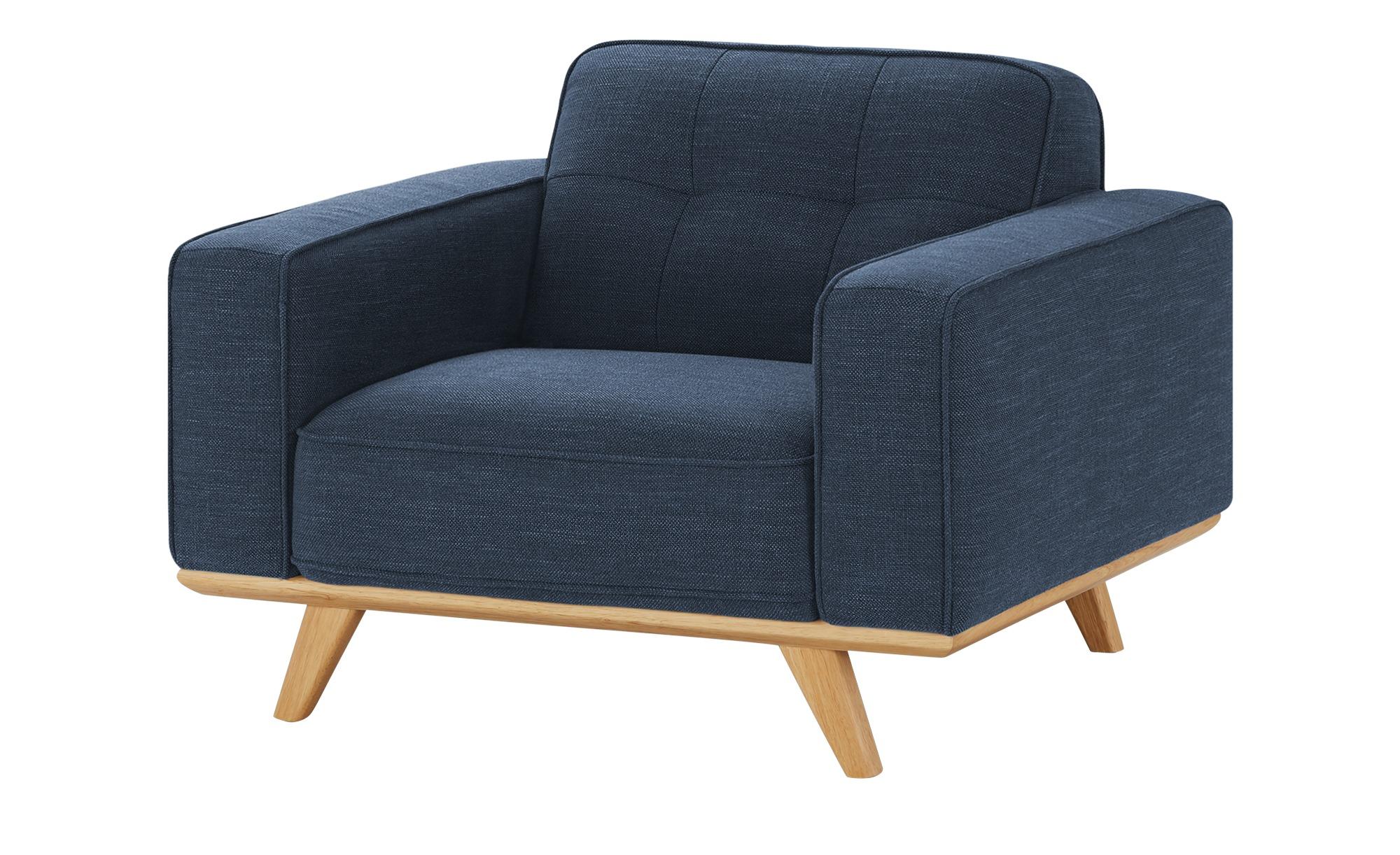 uno Sessel  Caralina ¦ blau ¦ Maße (cm): B: 112 H: 78 T: 95 Polstermöbel > Sessel > Polstersessel - Höffner