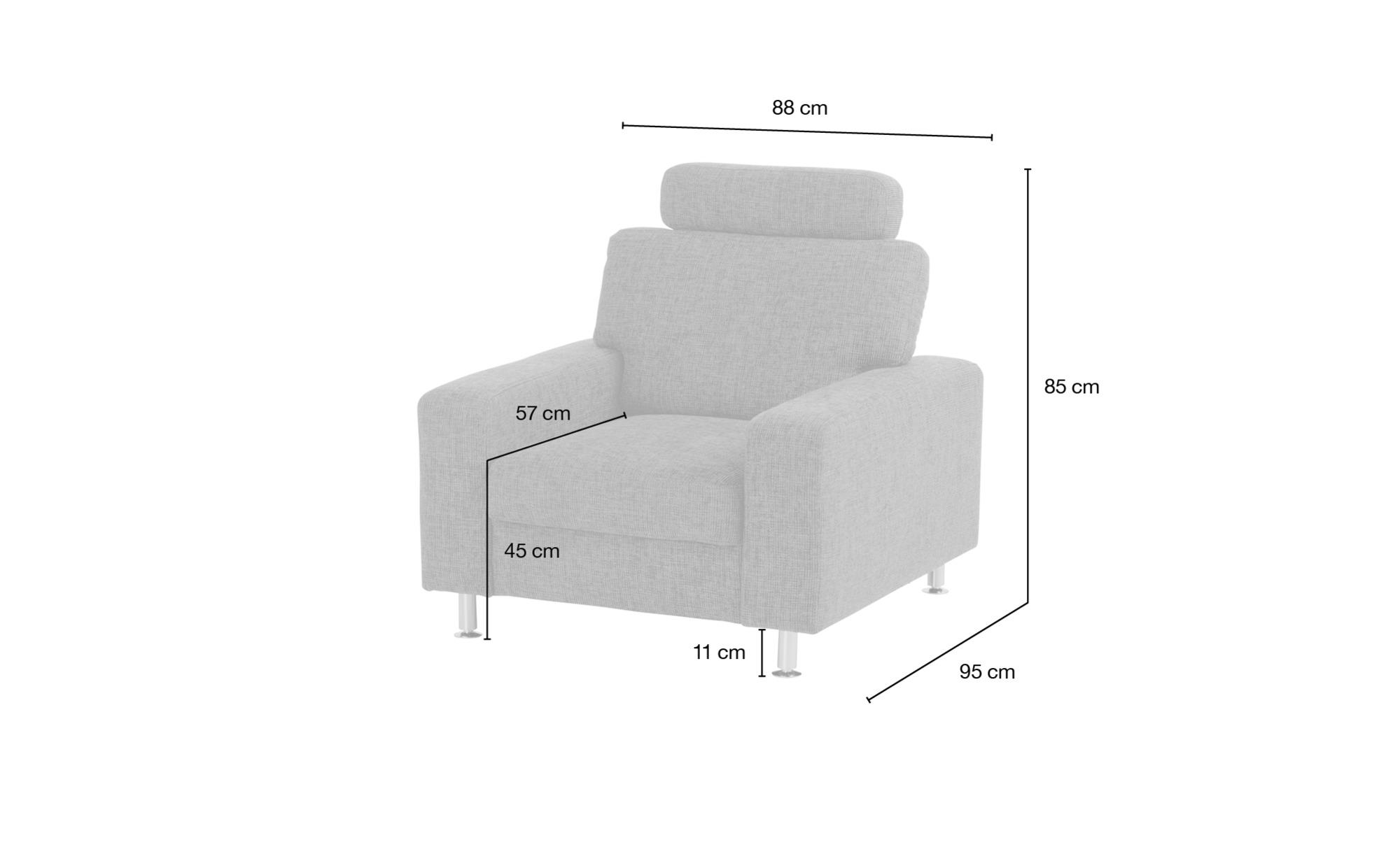 meinSofa Polstersessel   Jana ¦ lila/violett ¦ Maße (cm): B: 88 H: 85 T: 95 Polstermöbel > Sessel > Polstersessel - Höffner