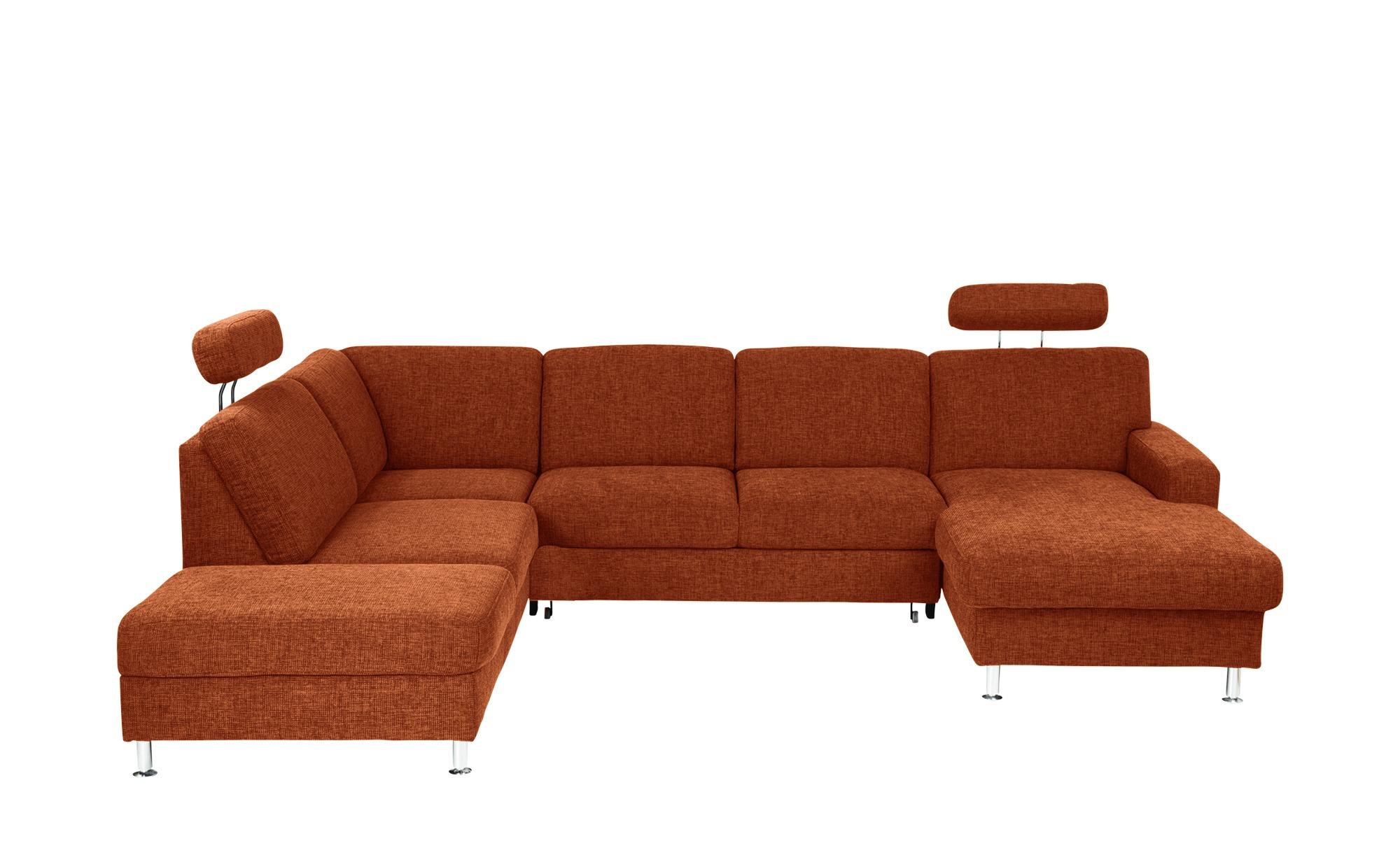 meinSofa Wohnlandschaft  Jana ¦ orange ¦ Maße (cm): H: 85 Polstermöbel > Sofas > Schlafsofas - Höffner