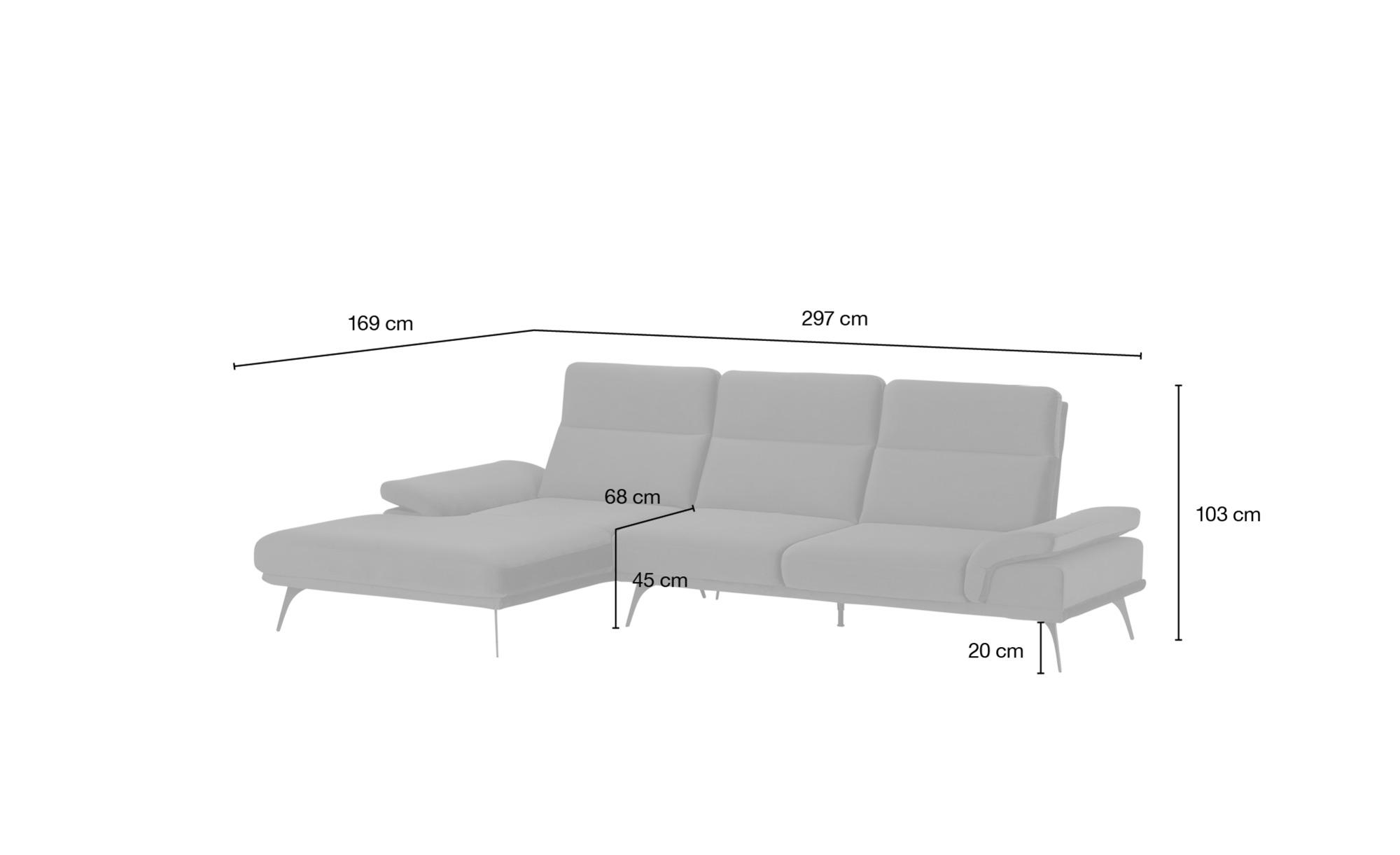 switch Ecksofa  Monte Carlo ¦ grün ¦ Maße (cm): H: 103 Polstermöbel > Sofas > Ecksofas - Höffner