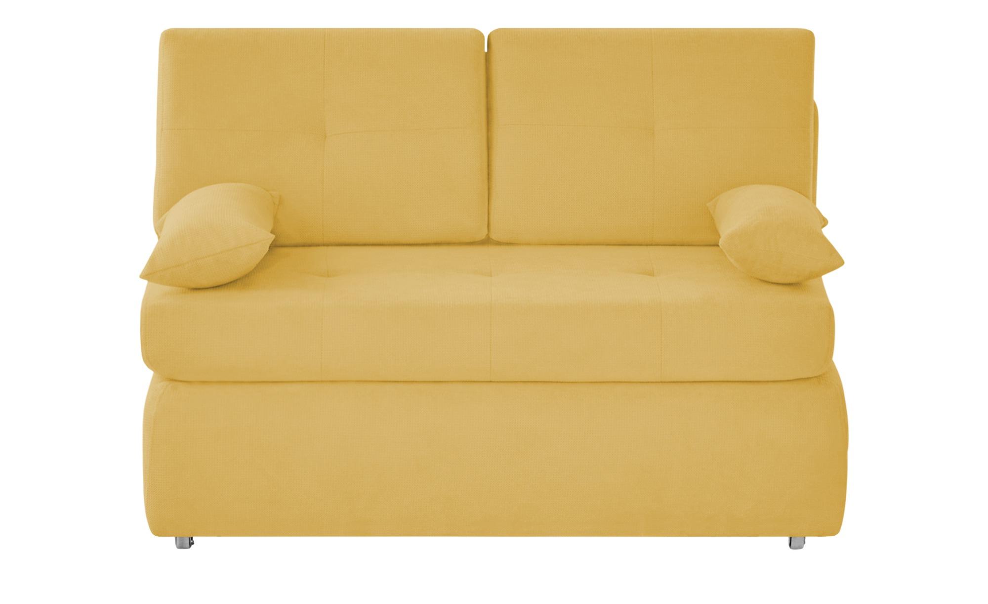 Schlafsofa  Sabina ¦ gelb ¦ Maße (cm): B: 123 H: 90 T: 91 Polstermöbel > Sofas > Einzelsofas - Höffner