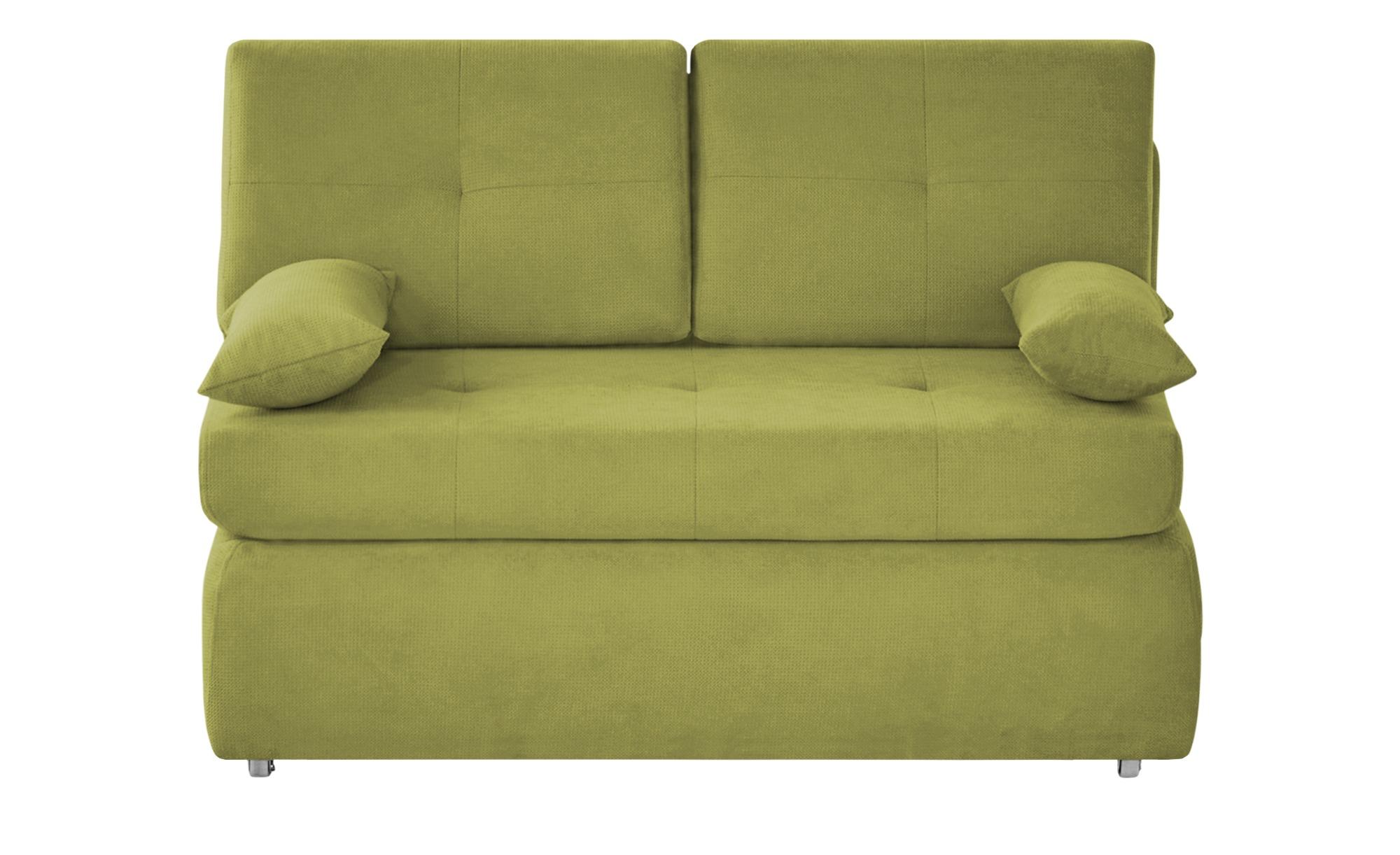 Schlafsofa  Sabina ¦ grün ¦ Maße (cm): B: 123 H: 90 T: 91 Polstermöbel > Sofas > Einzelsofas - Höffner