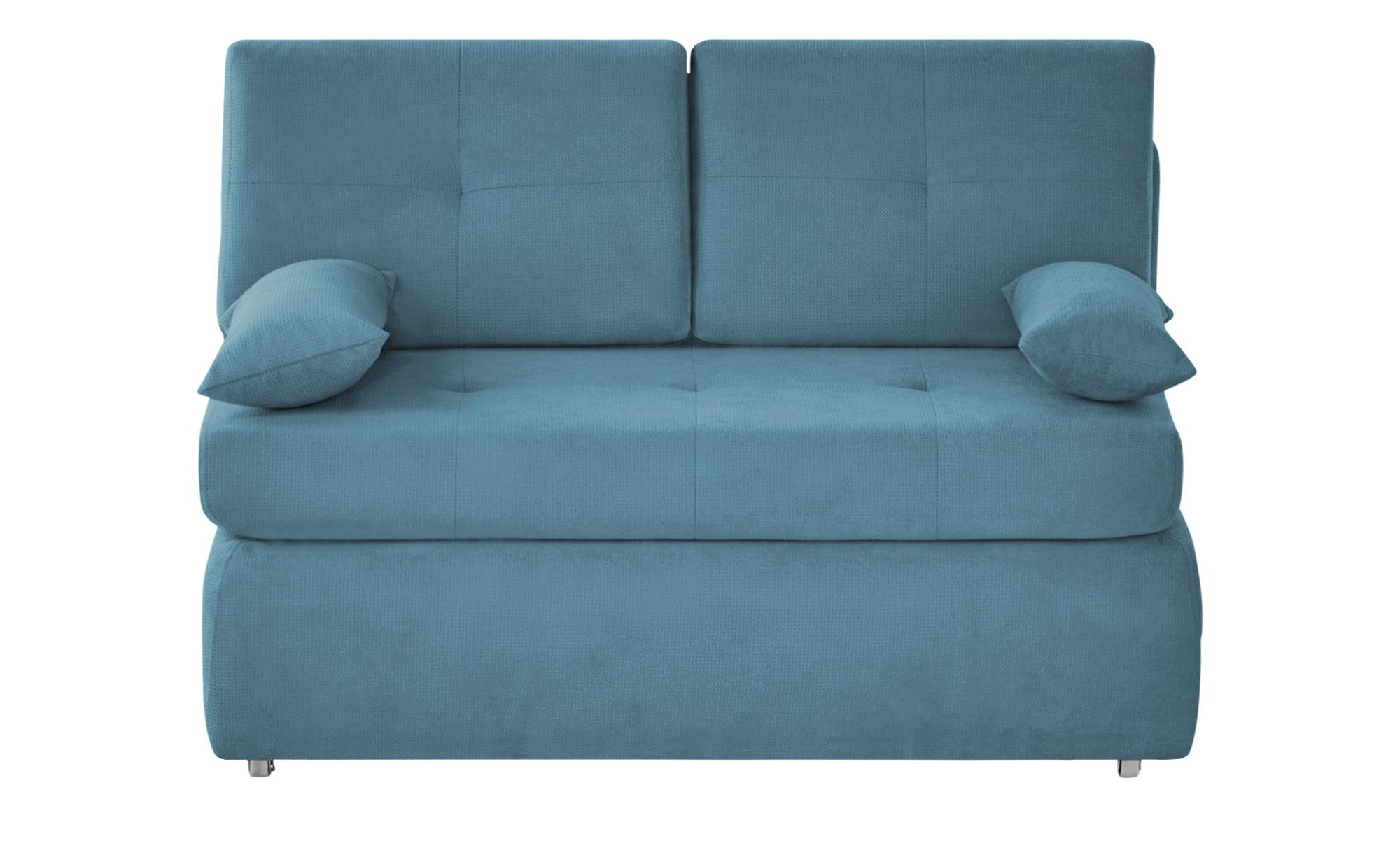 Schlafsofa  Sabina ¦ blau ¦ Maße (cm): B: 123 H: 90 T: 91 Polstermöbel > Sofas > Einzelsofas - Höffner