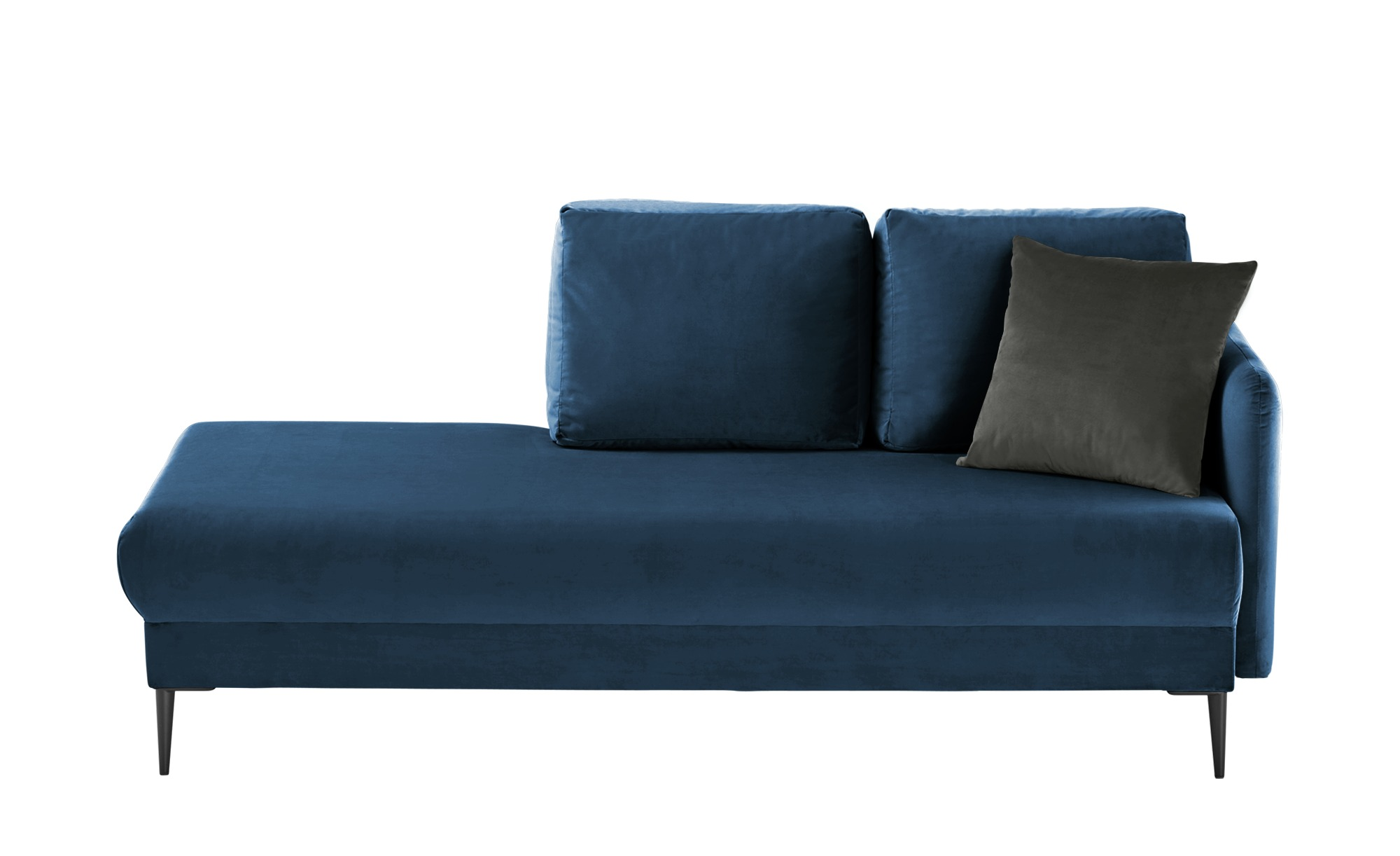 smart Ottomane  Olianna ¦ blau ¦ Maße (cm): B: 190 H: 90 T: 88 Polstermöbel > Sofas > Einzelsofas - Höffner