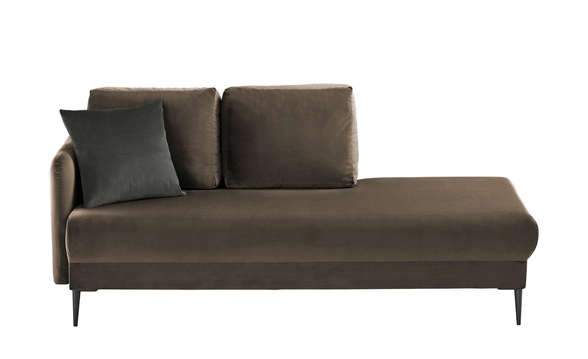 smart Ottomane  Olianna ¦ braun ¦ Maße (cm): B: 190 H: 90 T: 88 Polstermöbel > Sofas > Einzelsofas - Höffner
