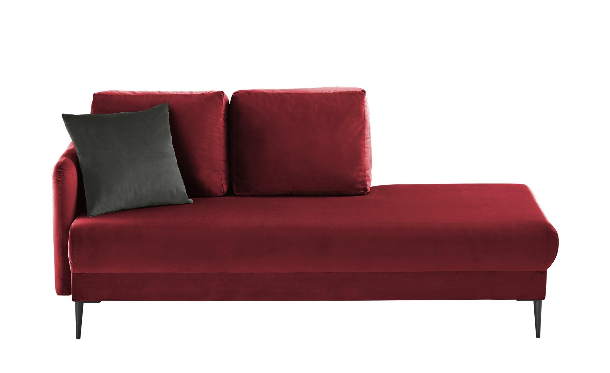 smart Ottomane  Olianna ¦ rot ¦ Maße (cm): B: 190 H: 90 T: 88 Polstermöbel > Sofas > Einzelsofas - Höffner