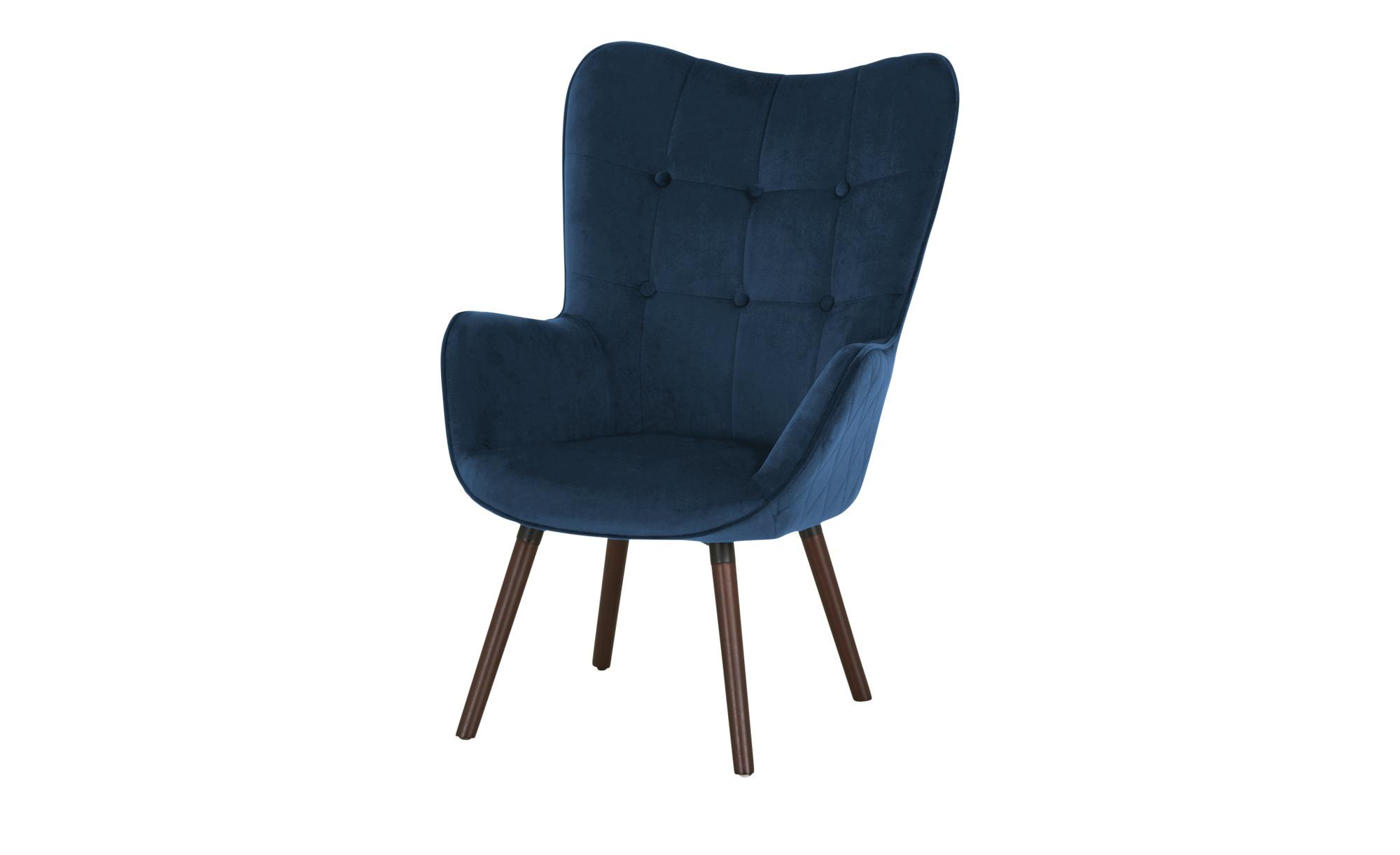 Playboy Sessel  Bridget ¦ blau ¦ Maße (cm): B: 68 H: 99 T: 77 Polstermöbel > Sessel > Ohrensessel - Höffner