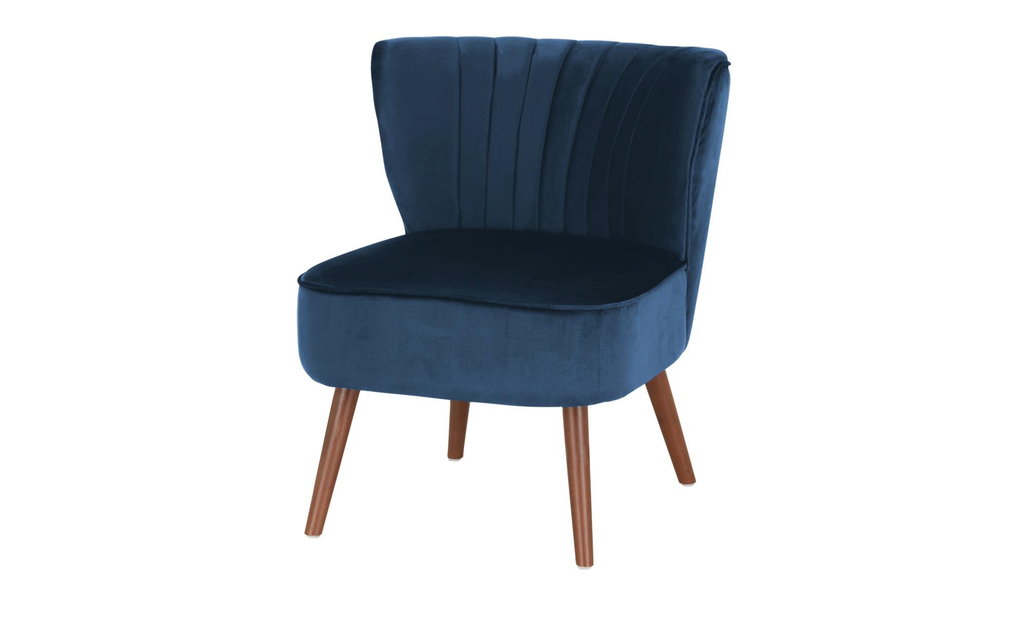 Playboy Sessel  Holly ¦ blau ¦ Maße (cm): B: 63 H: 76 T: 73 Polstermöbel > Sessel > Polstersessel - Höffner