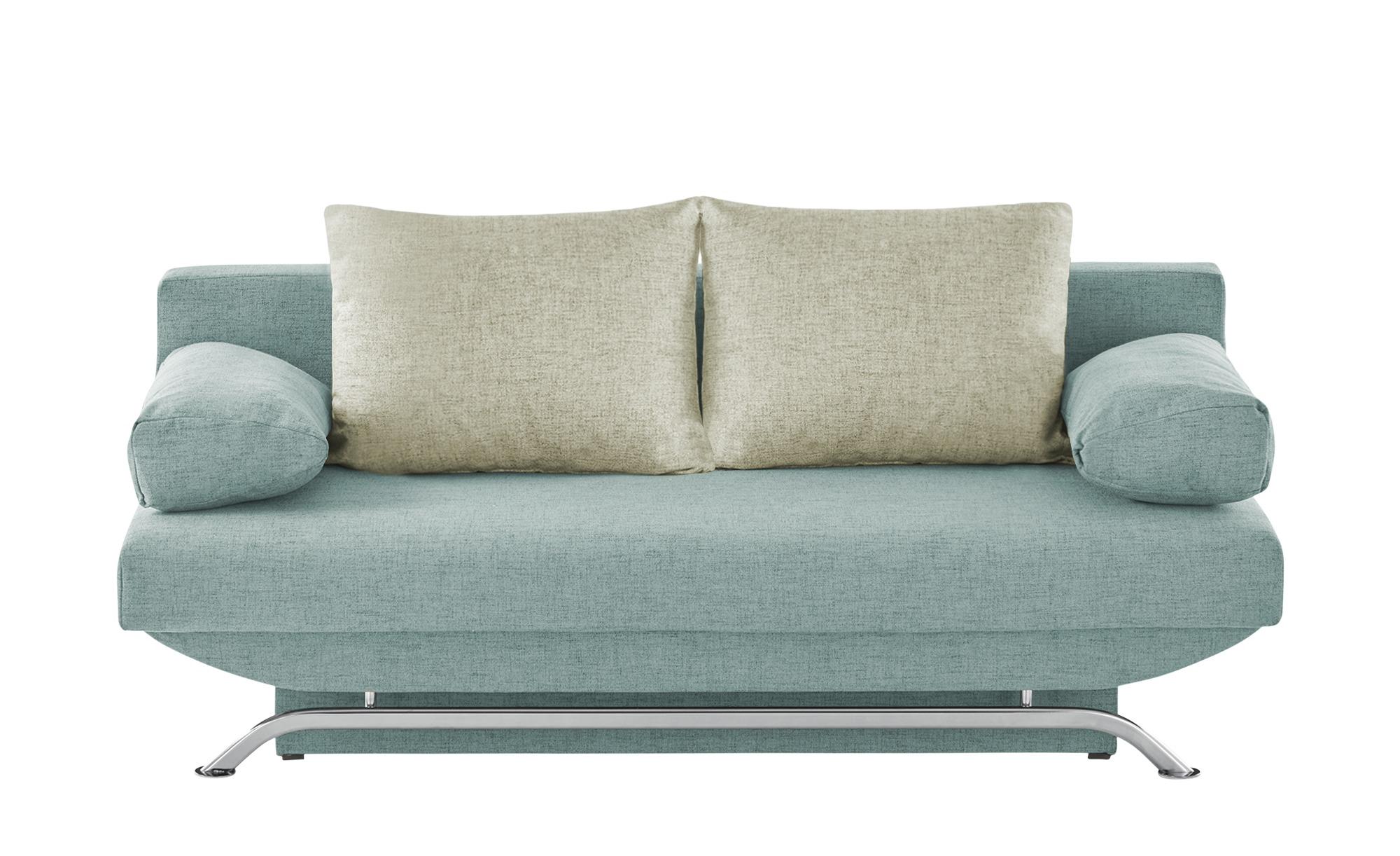 smart Schlafsofa  Grit ¦ blau ¦ Maße (cm): B: 195 H: 76 T: 91 Polstermöbel > Sofas > Einzelsofas - Höffner
