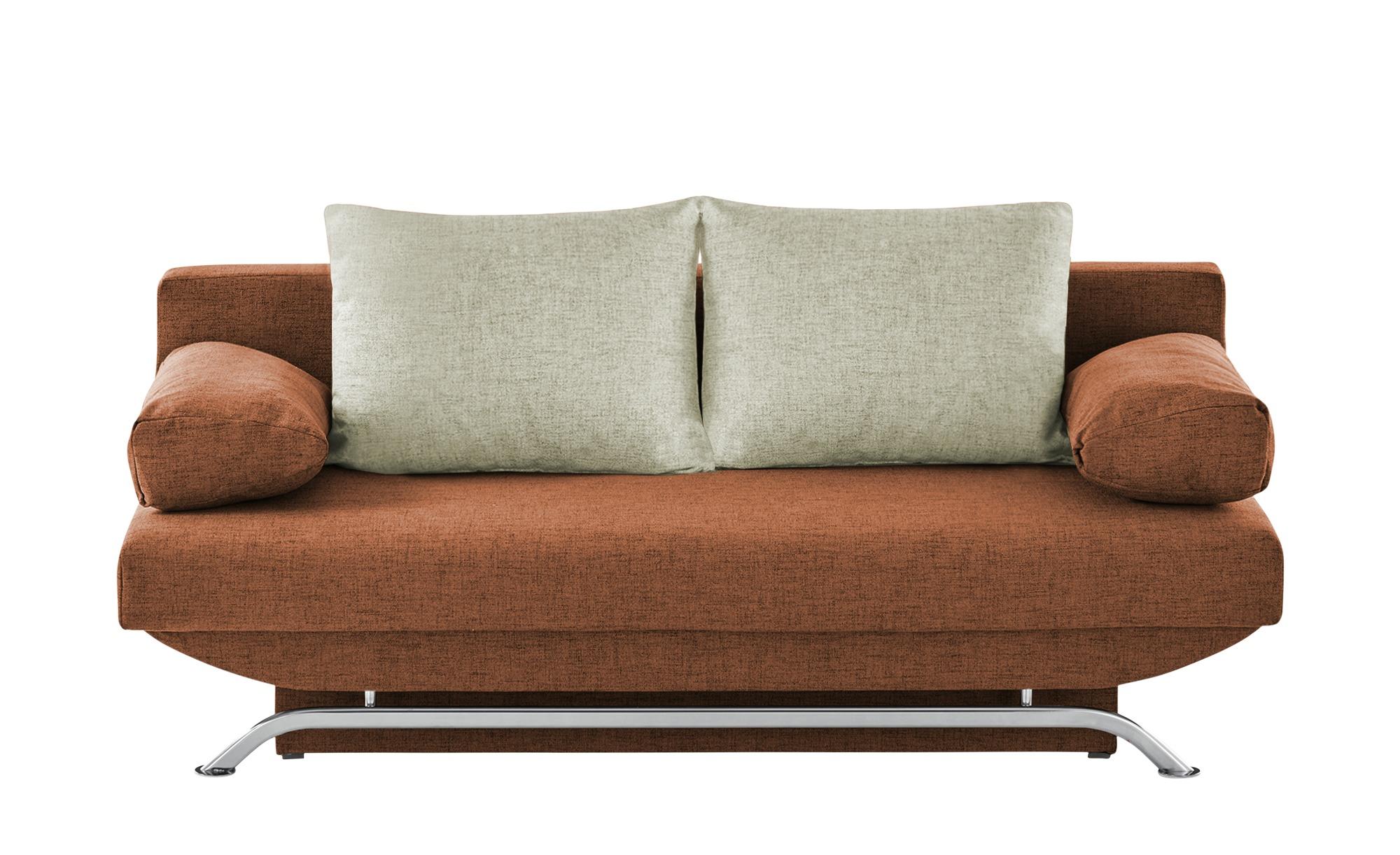 smart Schlafsofa  Grit ¦ orange ¦ Maße (cm): B: 195 H: 76 T: 91 Polstermöbel > Sofas > Einzelsofas - Höffner