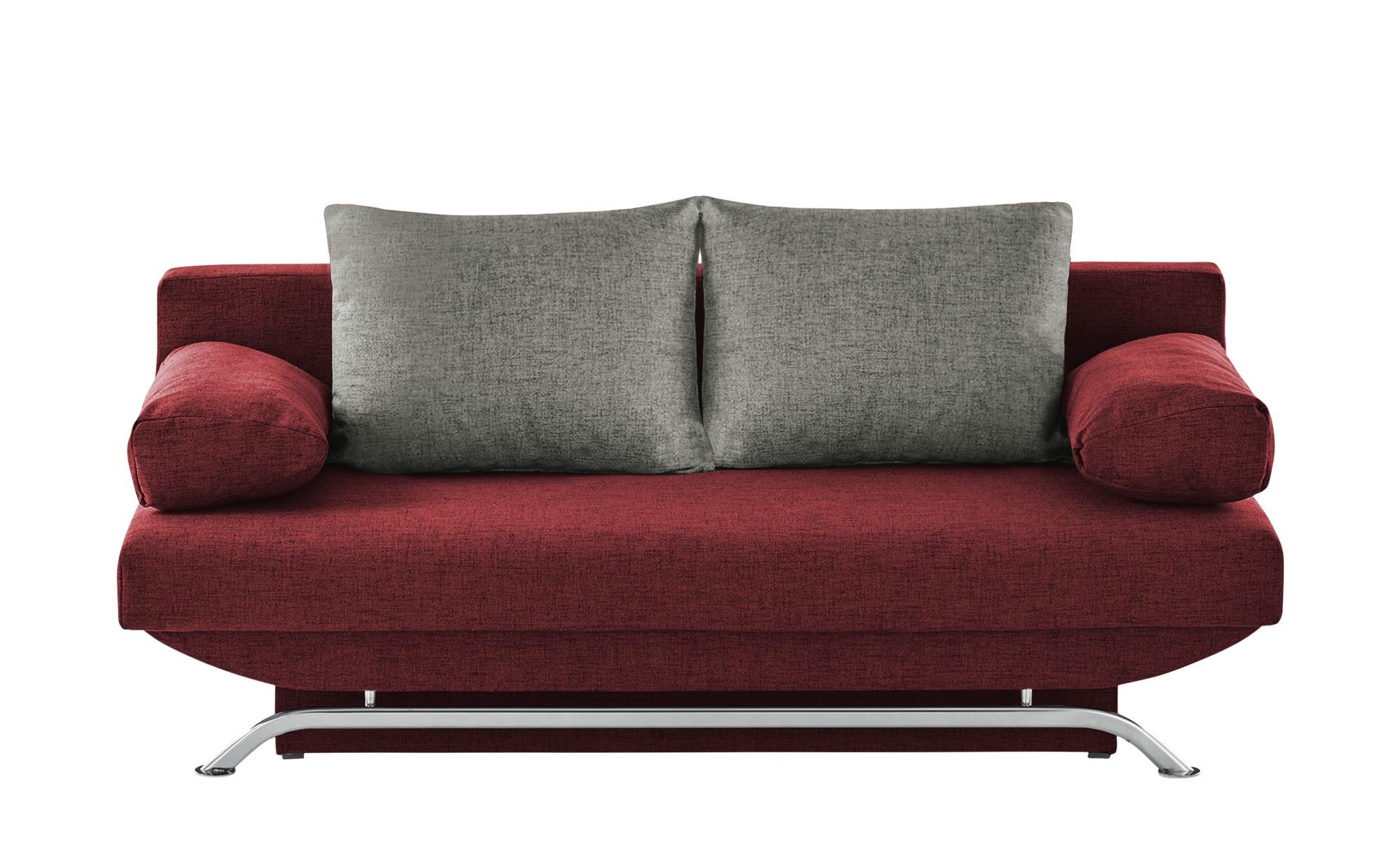 smart Schlafsofa  Grit ¦ rot ¦ Maße (cm): B: 195 H: 76 T: 91 Polstermöbel > Sofas > Einzelsofas - Höffner