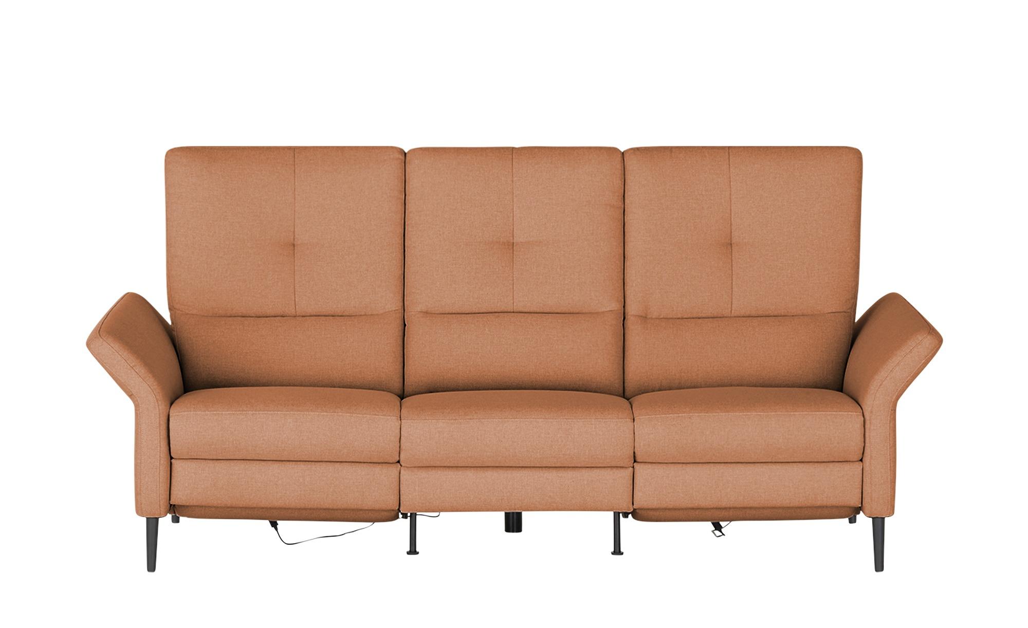 Wohnwert Einzelsofa  Sandra ¦ orange ¦ Maße (cm): B: 224 H: 108 T: 89 Polstermöbel > Sofas > 2-Sitzer - Höffner